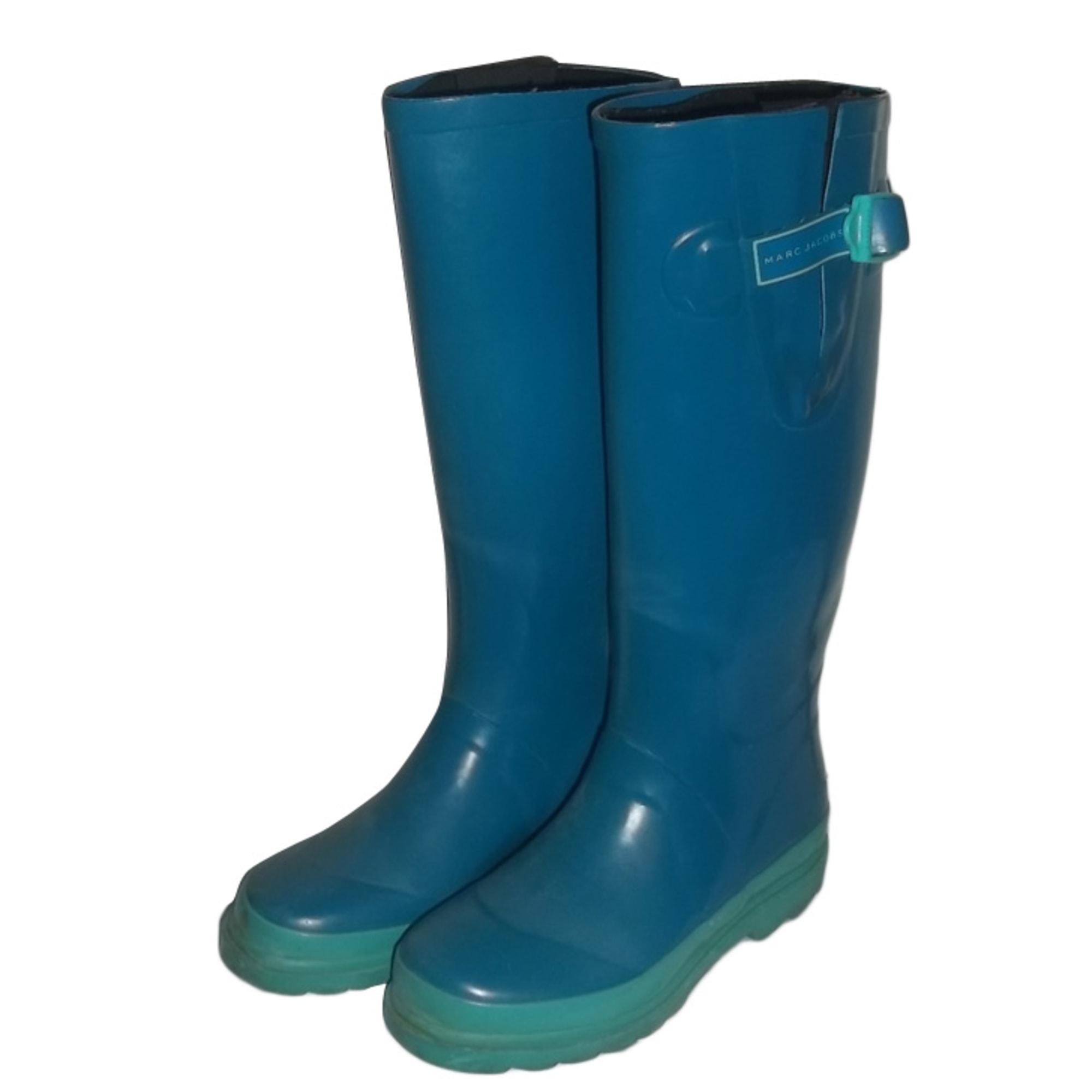 Bottes de pluie MARC JACOBS caoutchouc bleu 35