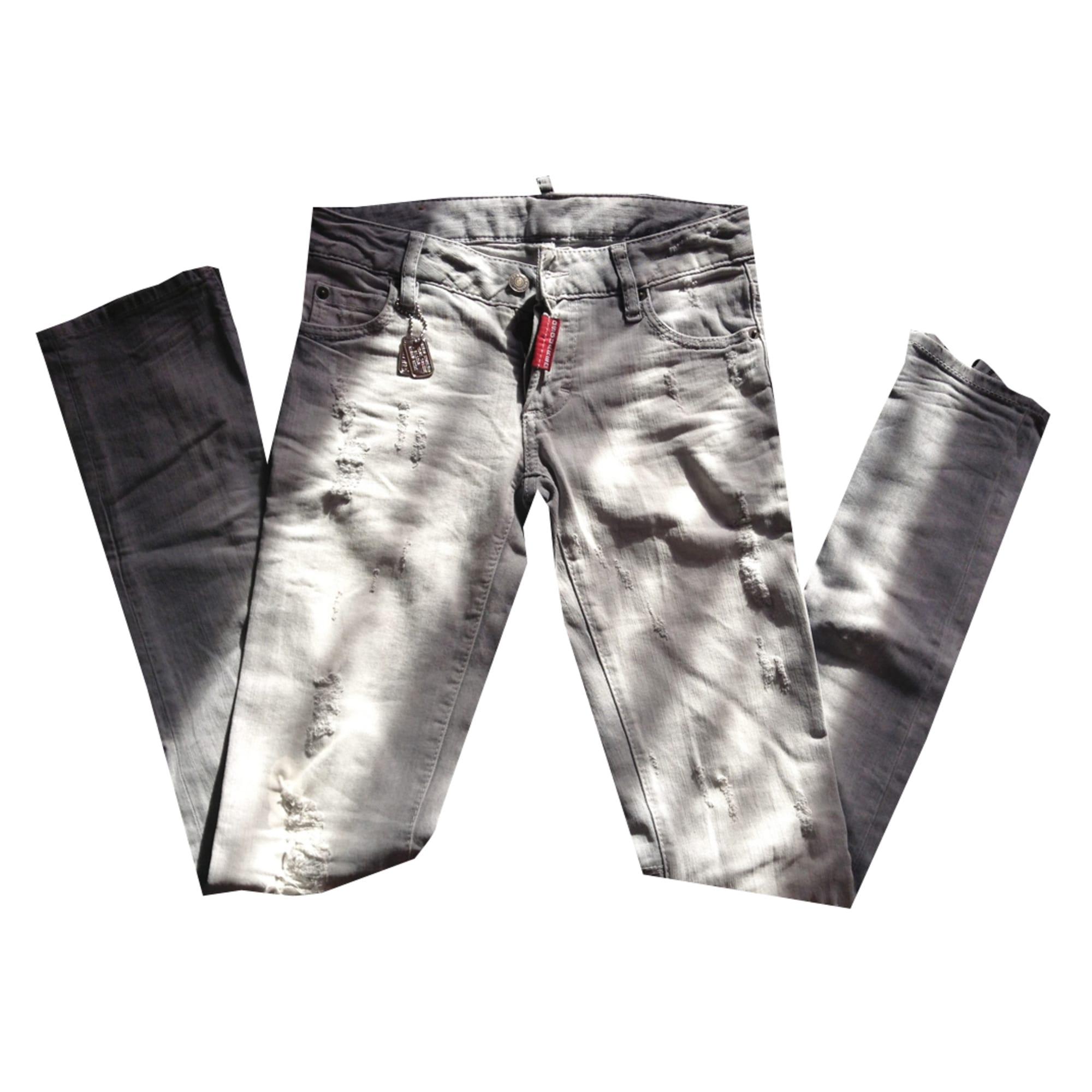 Jeans slim DSQUARED W27 (T 36) gris - 1394274 795441e532f