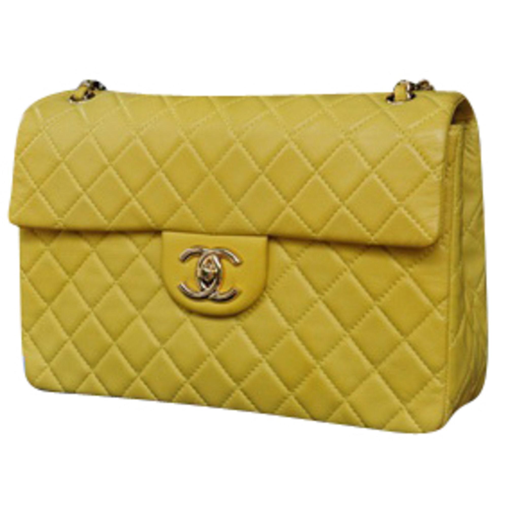 Sac en bandoulière en cuir CHANEL jaune vendu par Luxe recyclé - 1403237 8ce458b1fa3