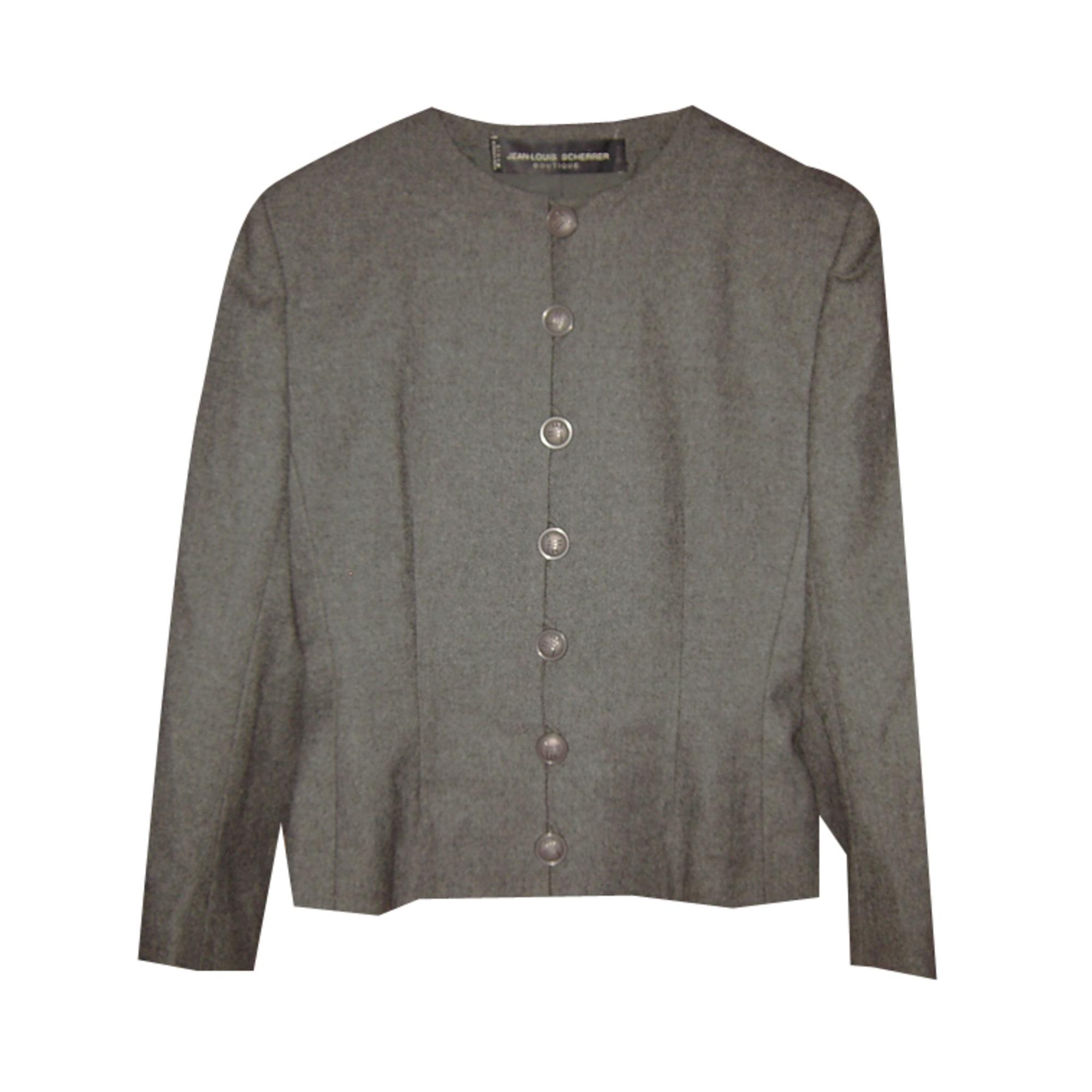 Blazer, veste tailleur JEAN-LOUIS SCHERRER Gris, anthracite