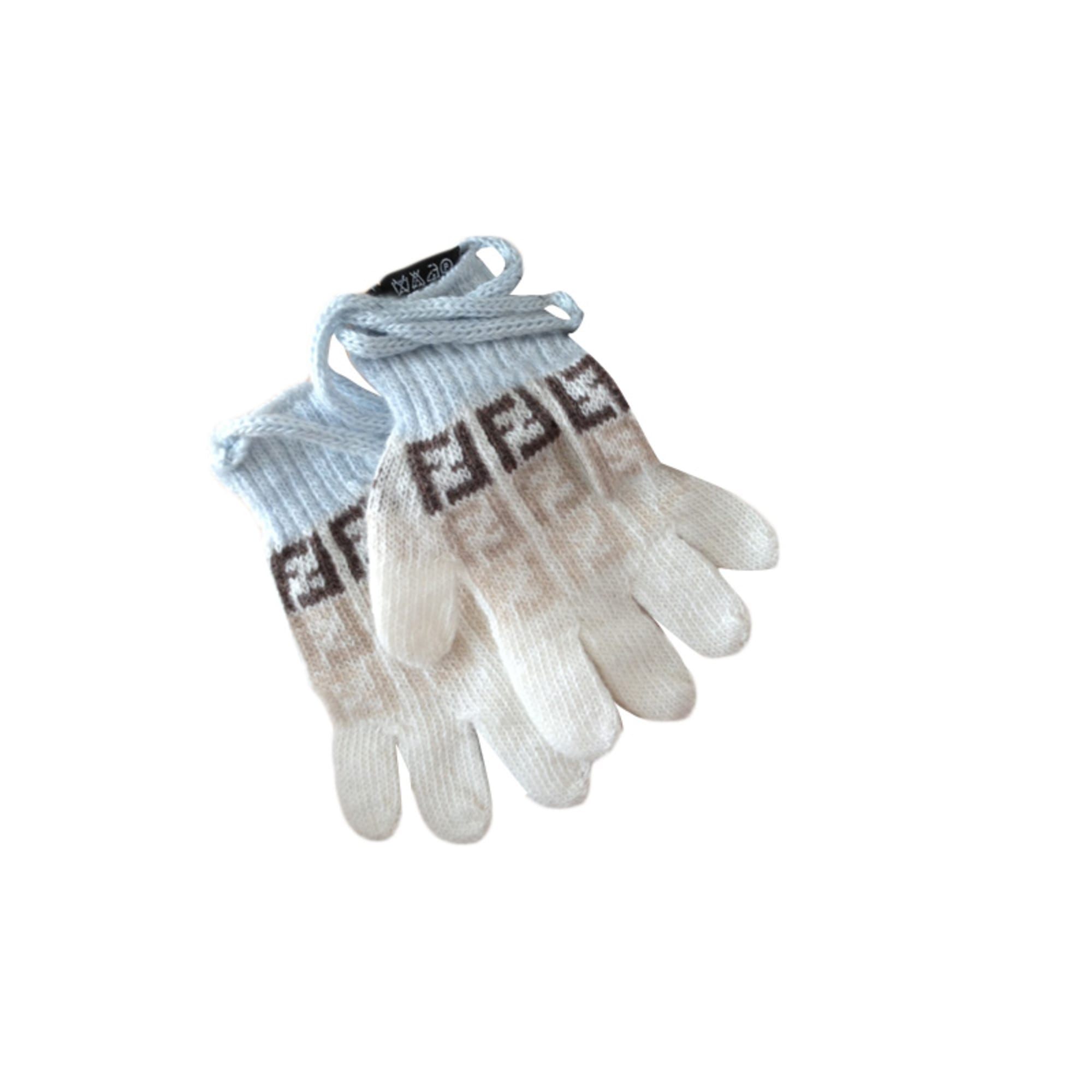 Gloves FENDI White, off-white, ecru