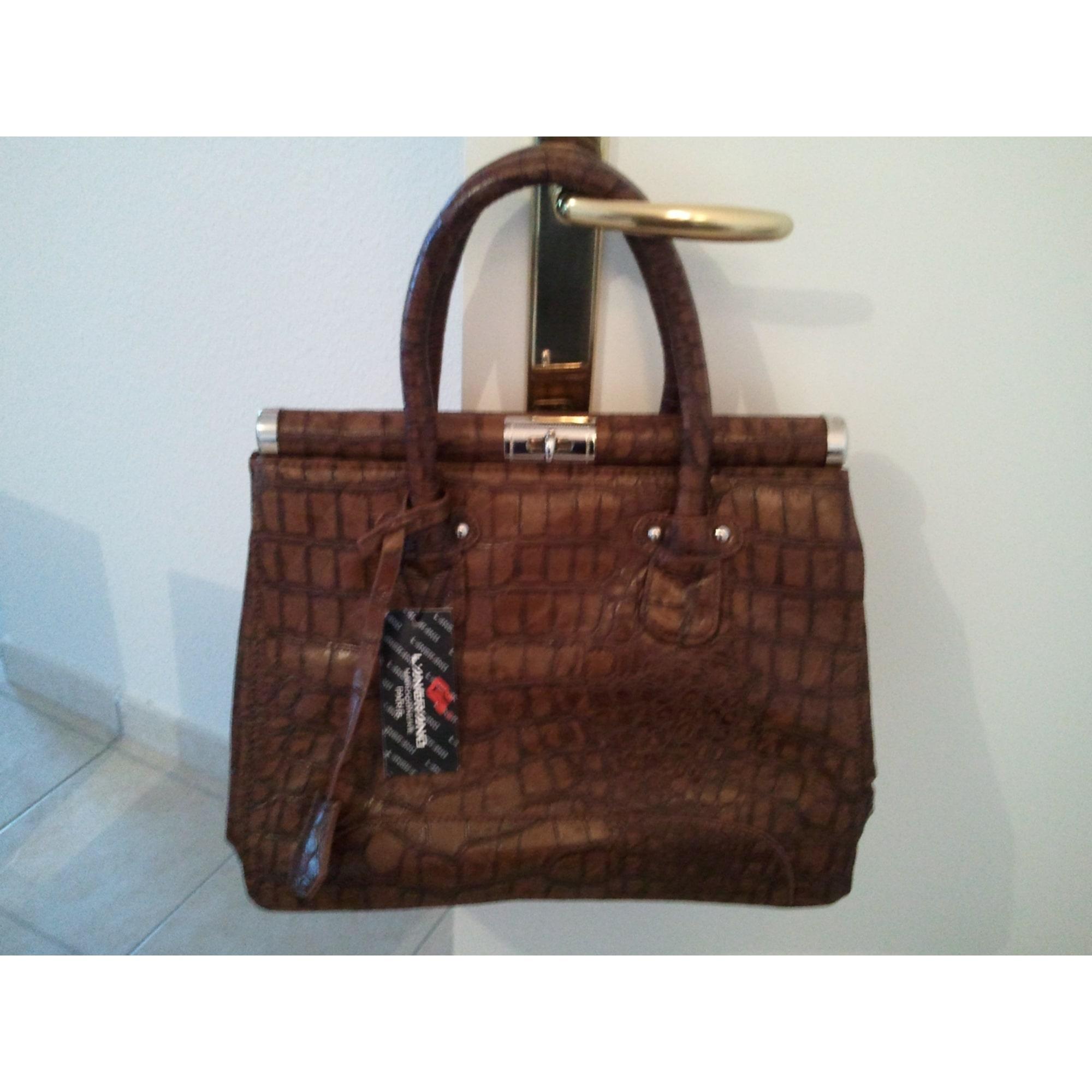 9027932830 Sac à main en cuir LANGRAND marron vendu par Tijulie20757 - 147910