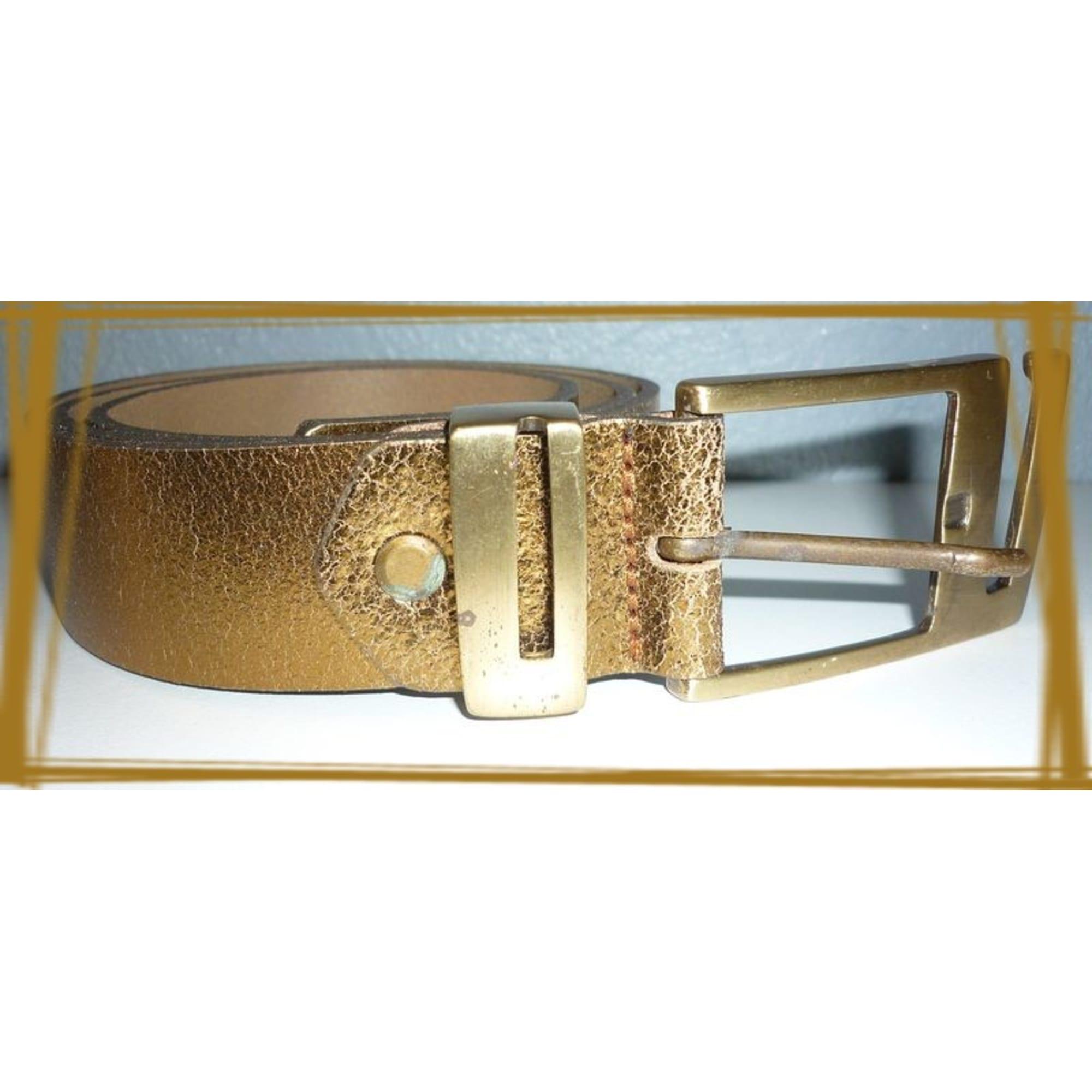 Ceinture large SENSATION CUIR 80 doré vendu par La boutique ... 924e767014d