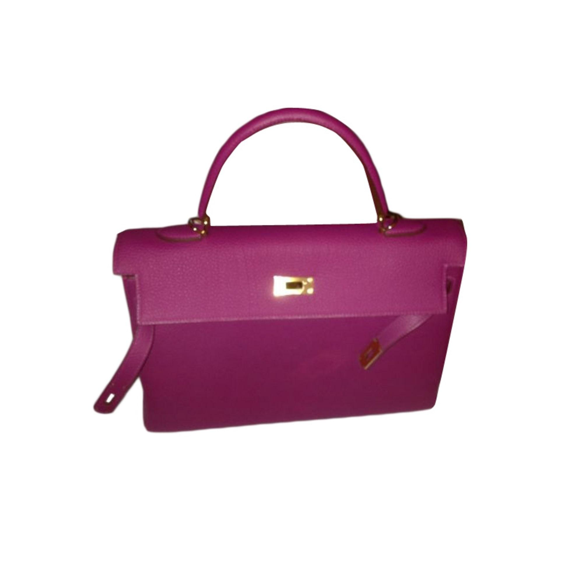 sac à main en cuir hermÈs rose - 1509417