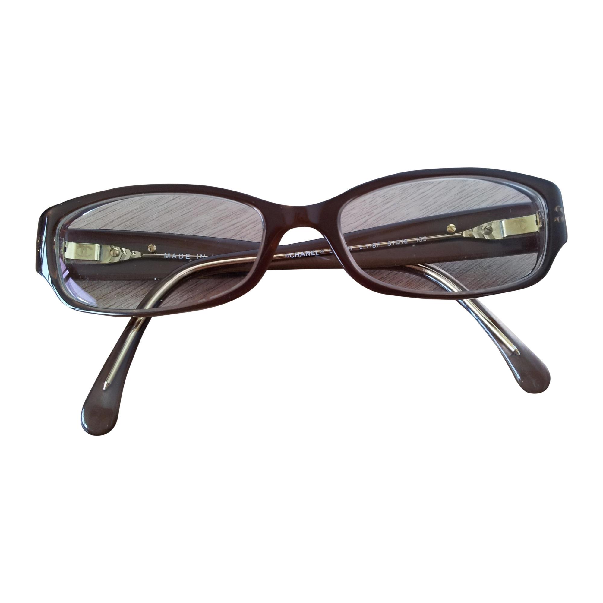 Monture de lunettes CHANEL Marron