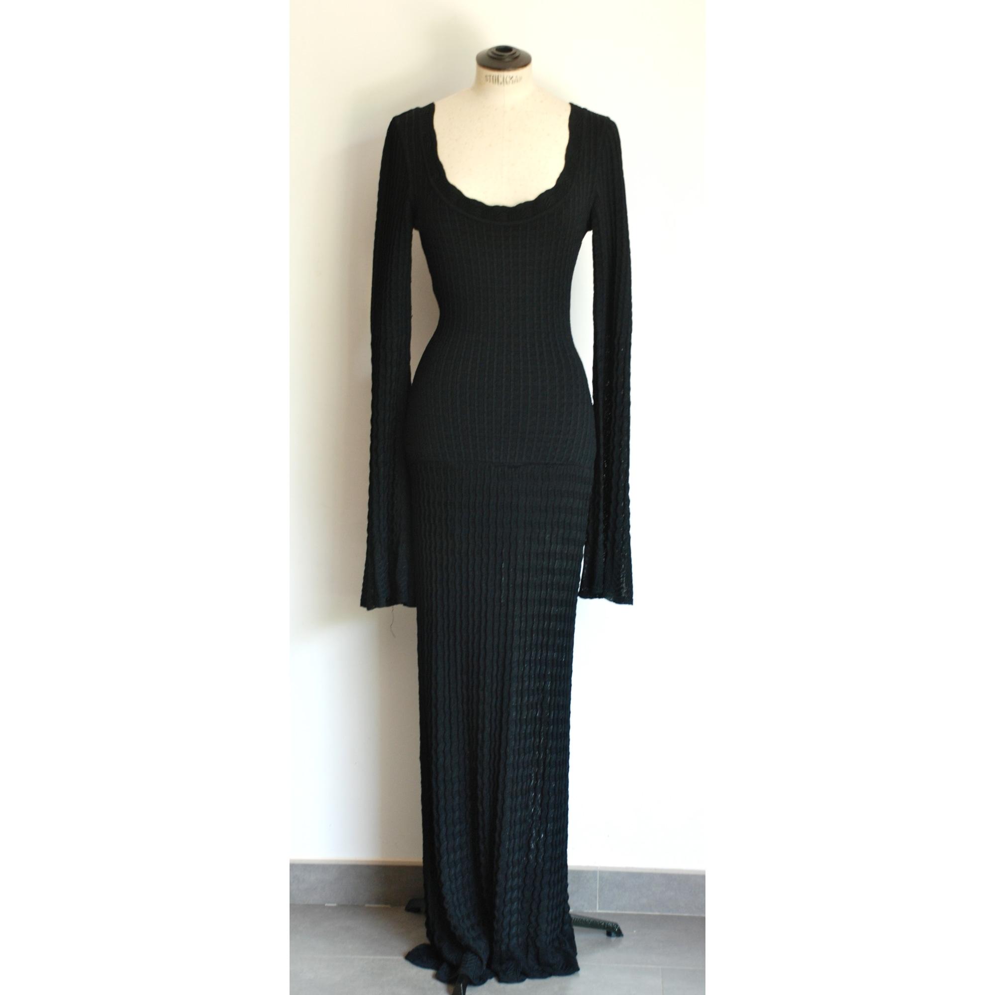 Robe longue ALAÏA Noir