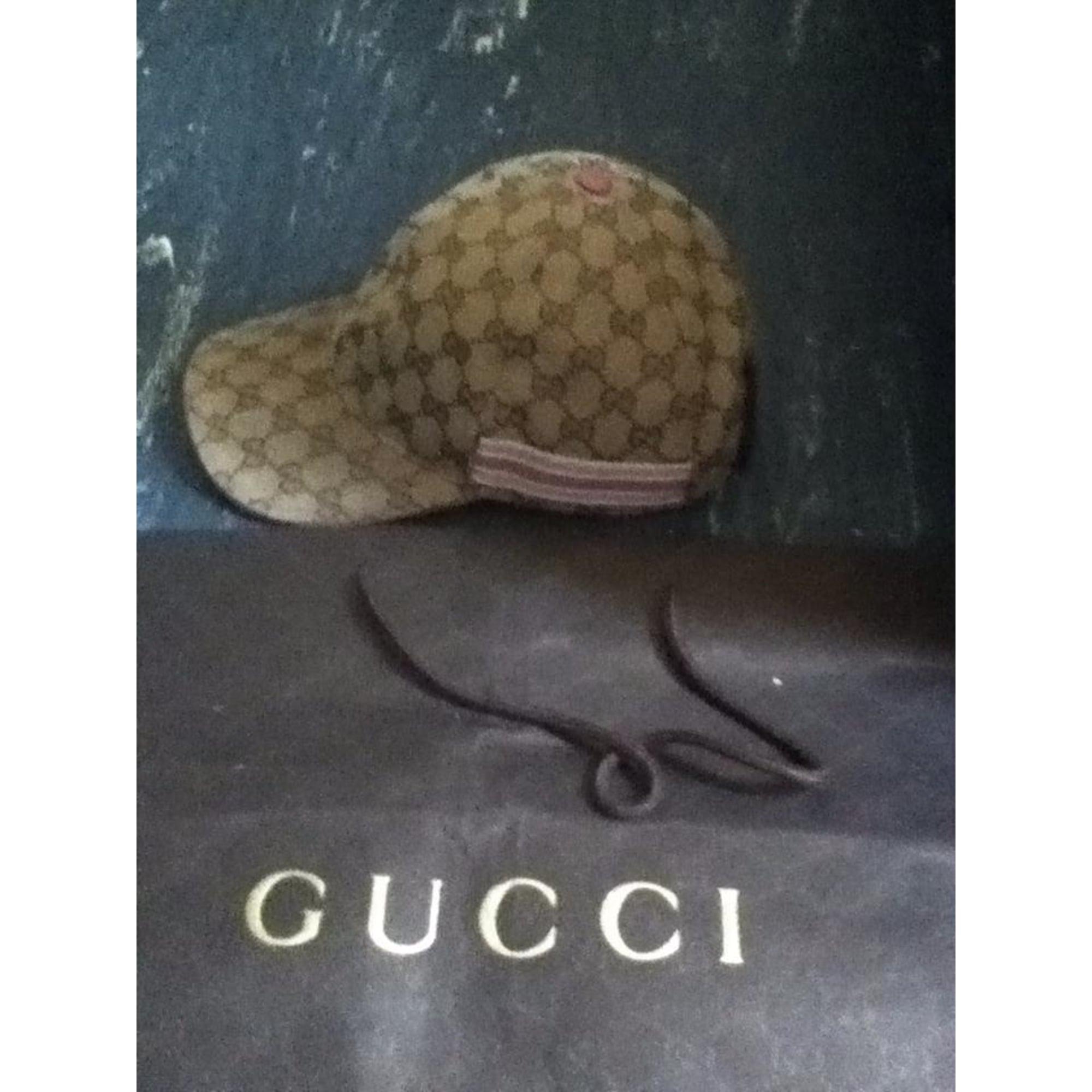 Casquette GUCCI Taille unique beige rose - 1538524 ba612df3534