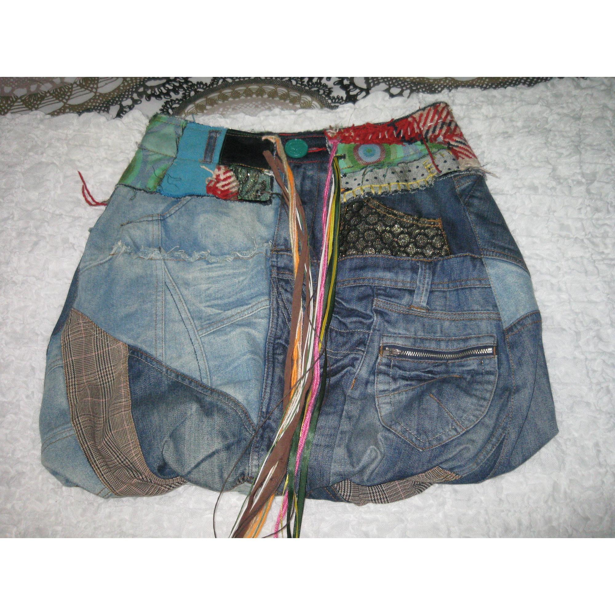jupe en jean desigual 34 xs t0 jeans vendu par. Black Bedroom Furniture Sets. Home Design Ideas