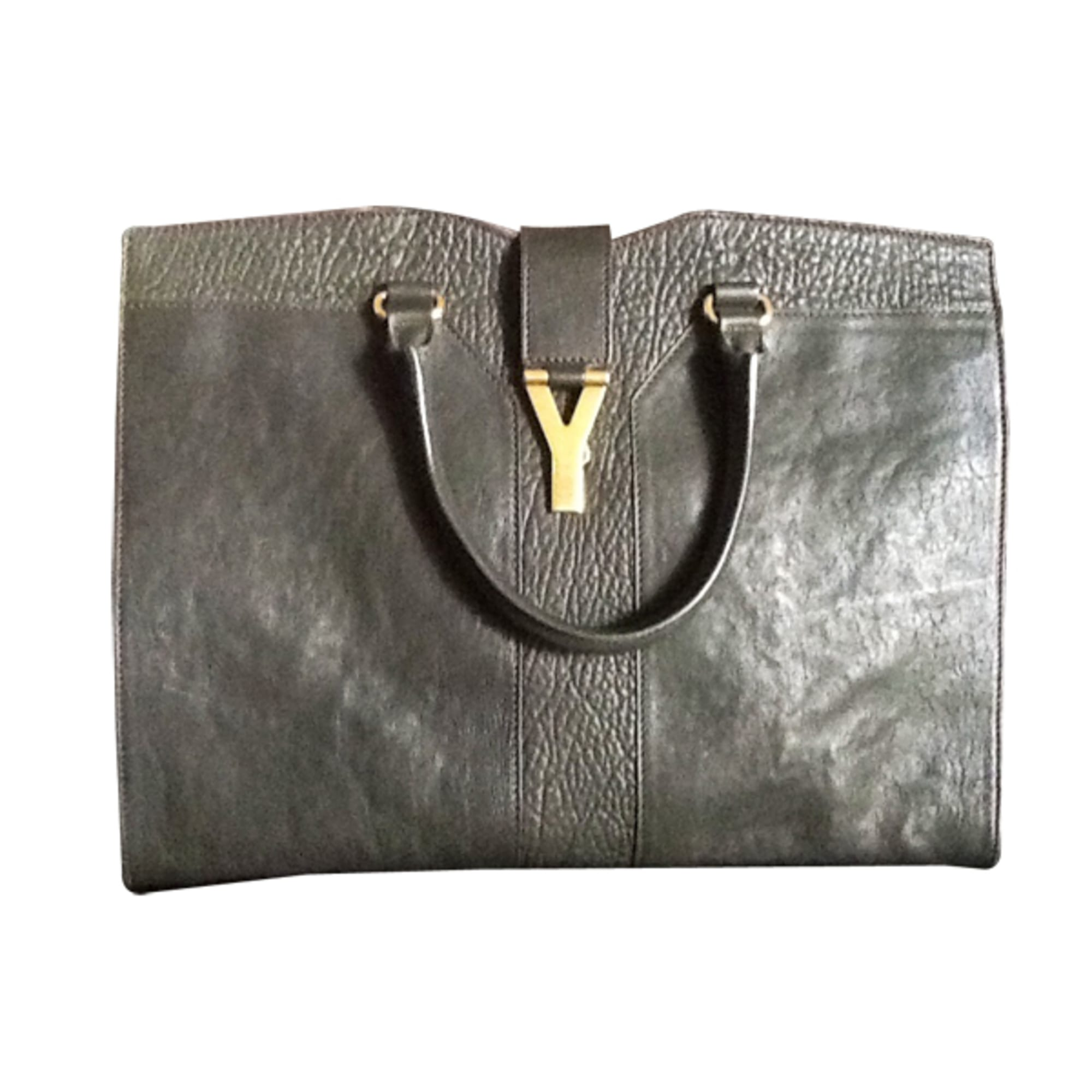 dea5bda31a Sac à main en cuir YVES SAINT LAURENT vert vendu par Chanel44922 ...