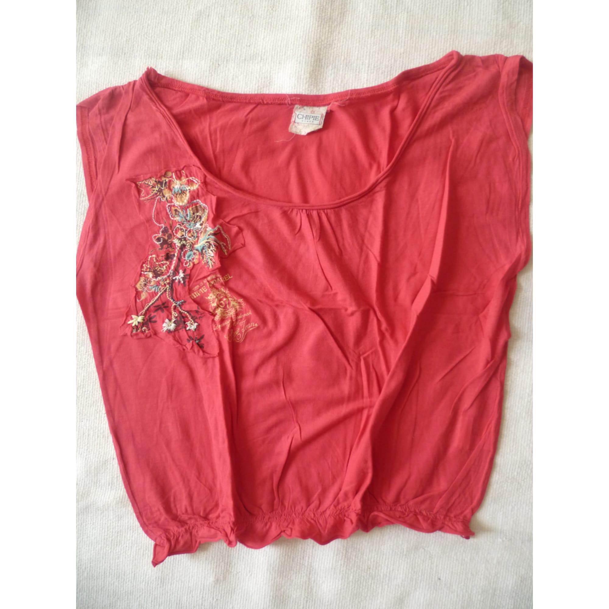 Top, tee-shirt CHIPIE Rouge, bordeaux