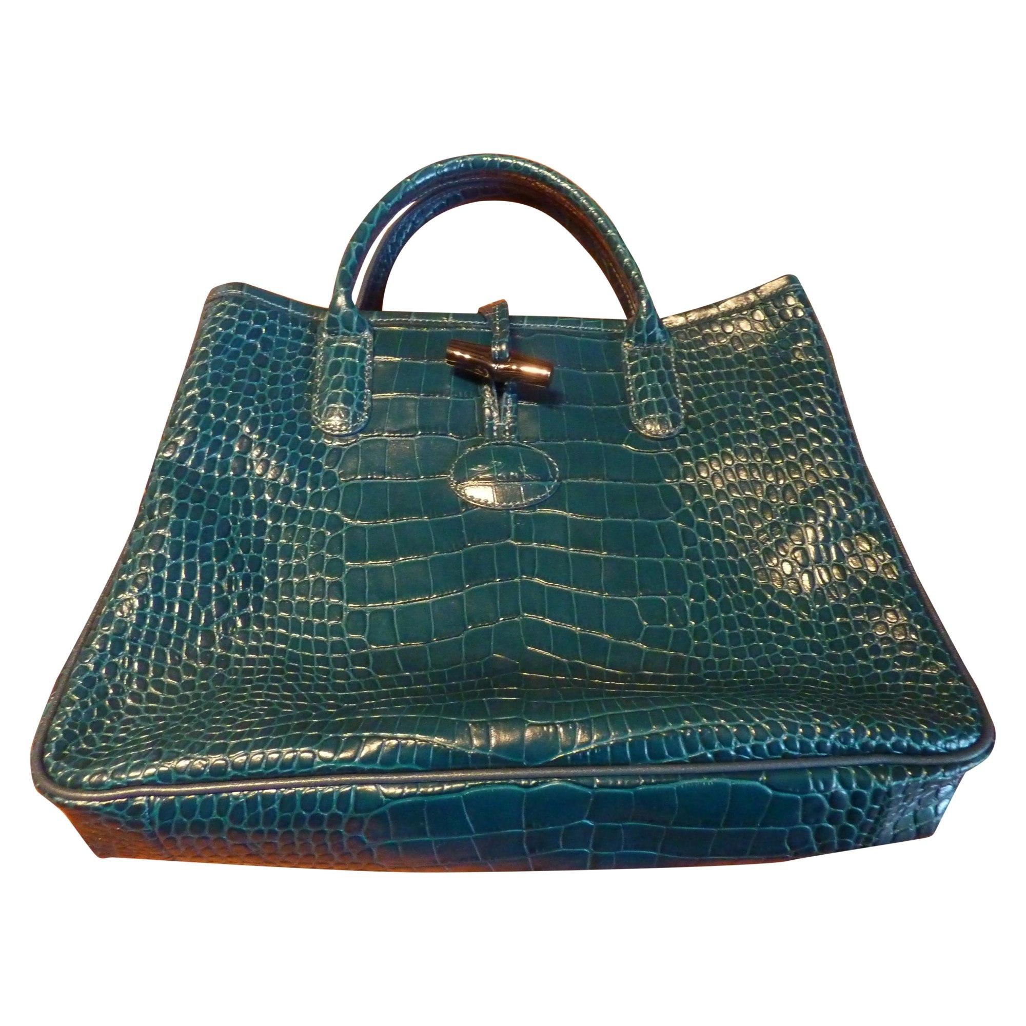 306171b2e67c Sac à main en cuir LONGCHAMP bleu vendu par Shopname275901 - 1608462