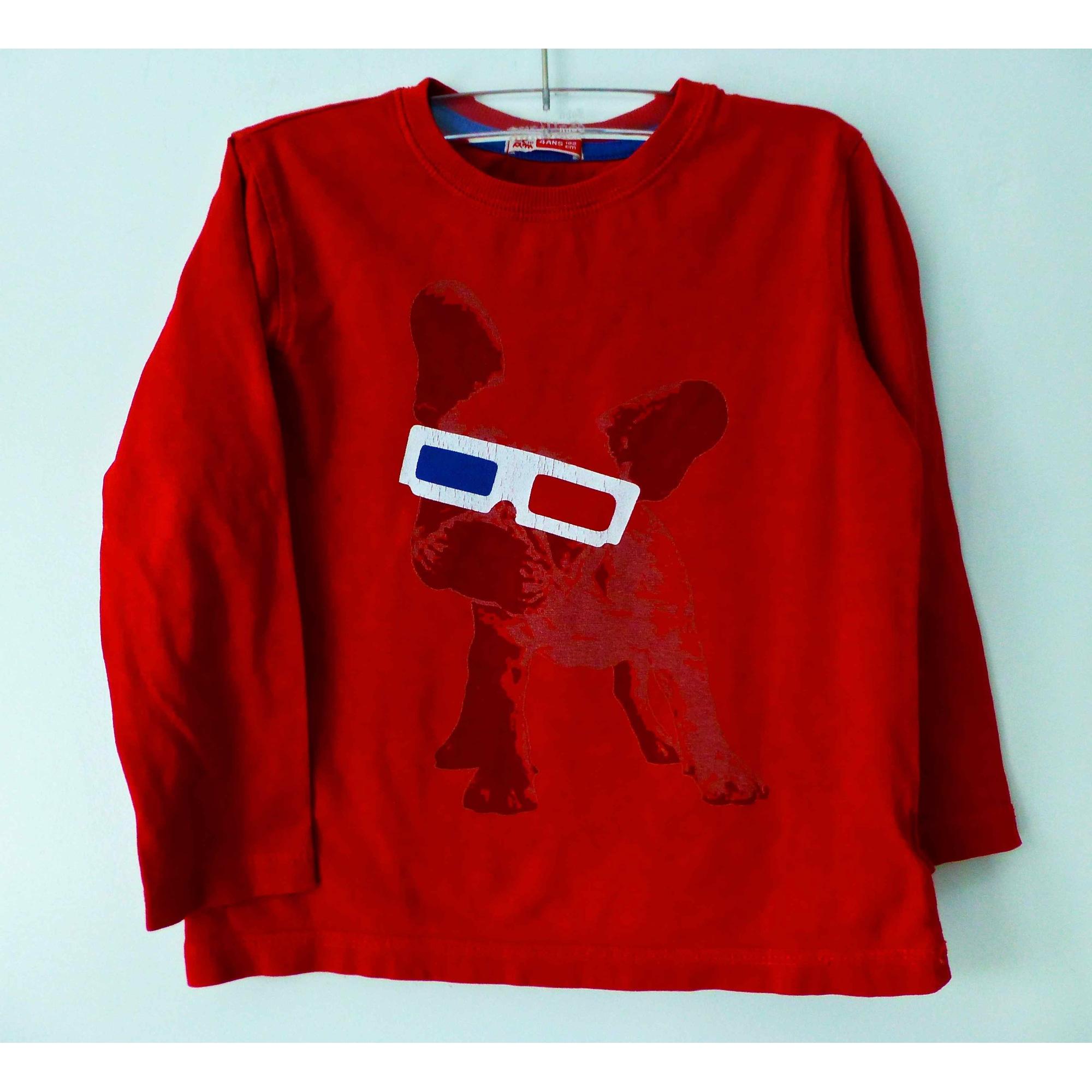 Tee-shirt DU PAREIL AU MÊME DPAM Rouge, bordeaux