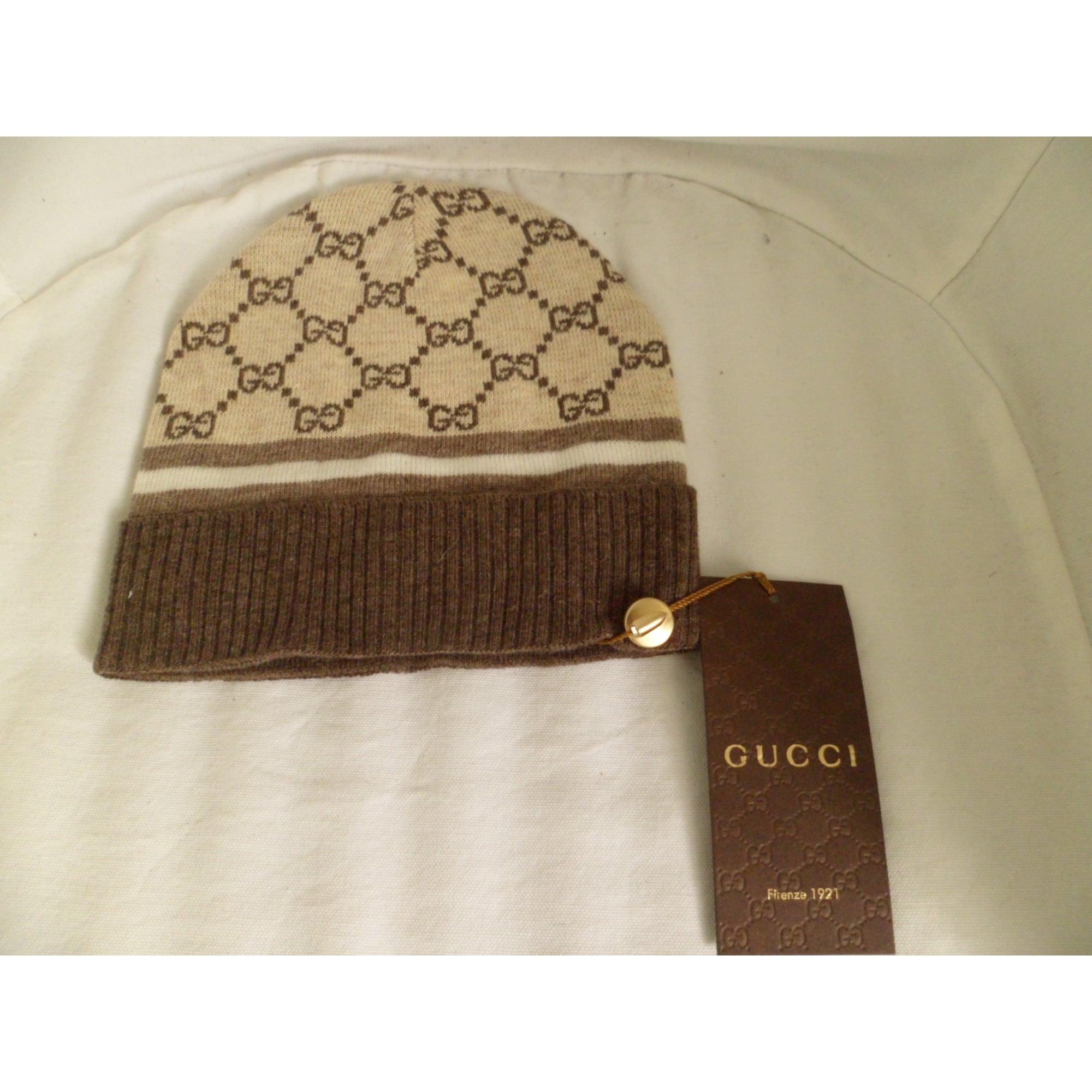 Bonnet GUCCI Taille unique beige vendu par D anthony 49467882 - 1620968 0725a8fe45e
