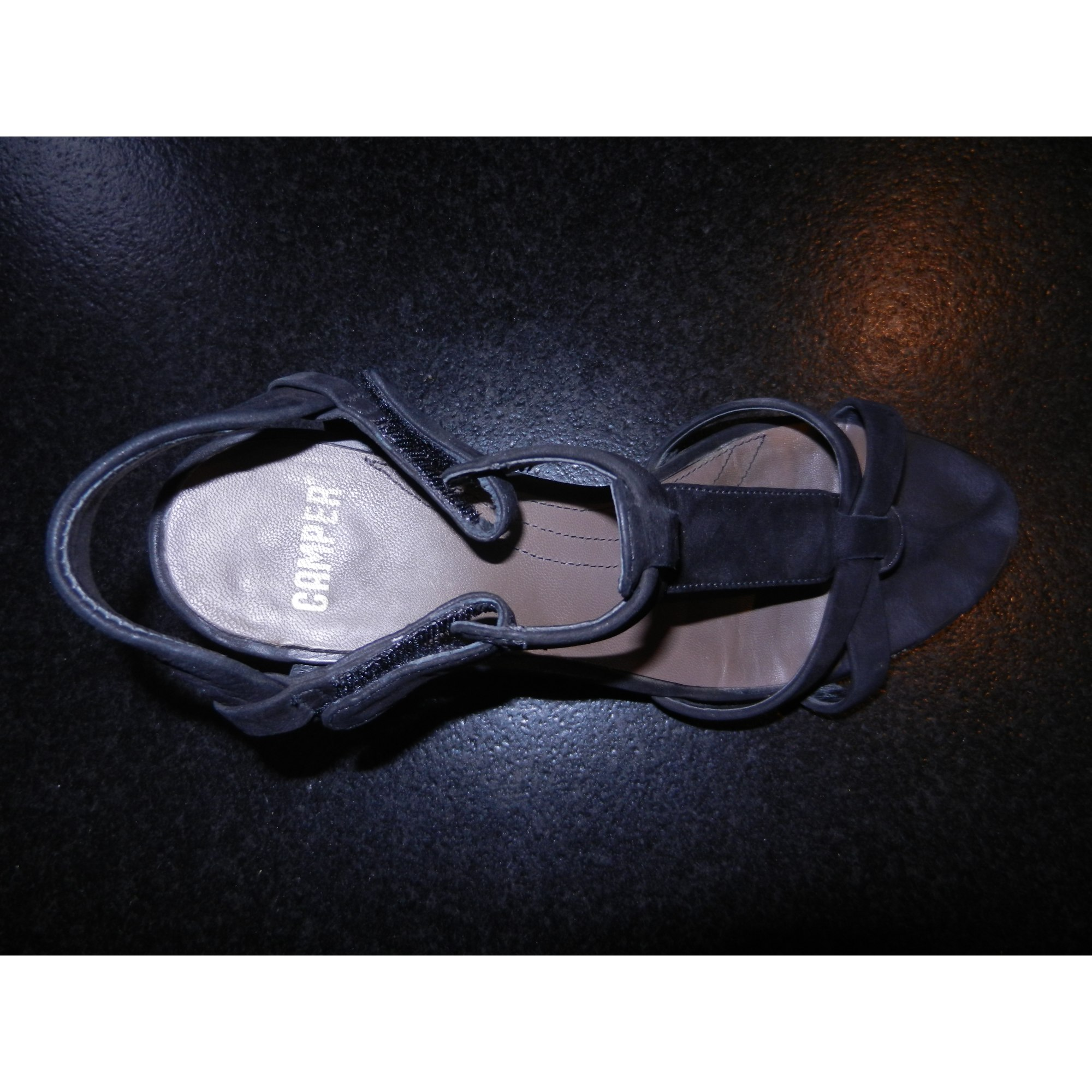 Escarpins compensés CAMPER Noir