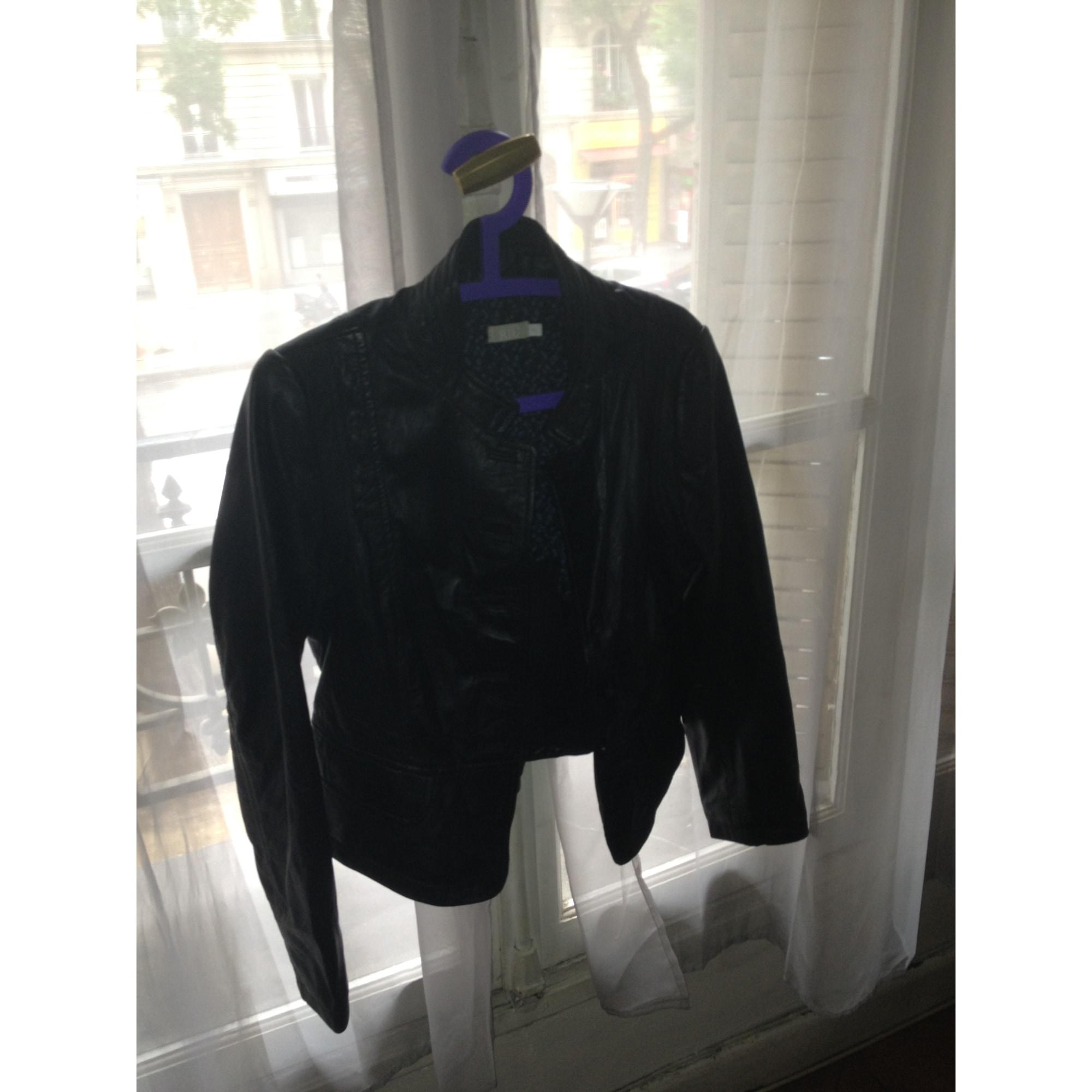 c7361d7e49ed Veste en cuir JACQUELINE RIU 42 (L XL, T4) noir vendu par Blondie28 ...