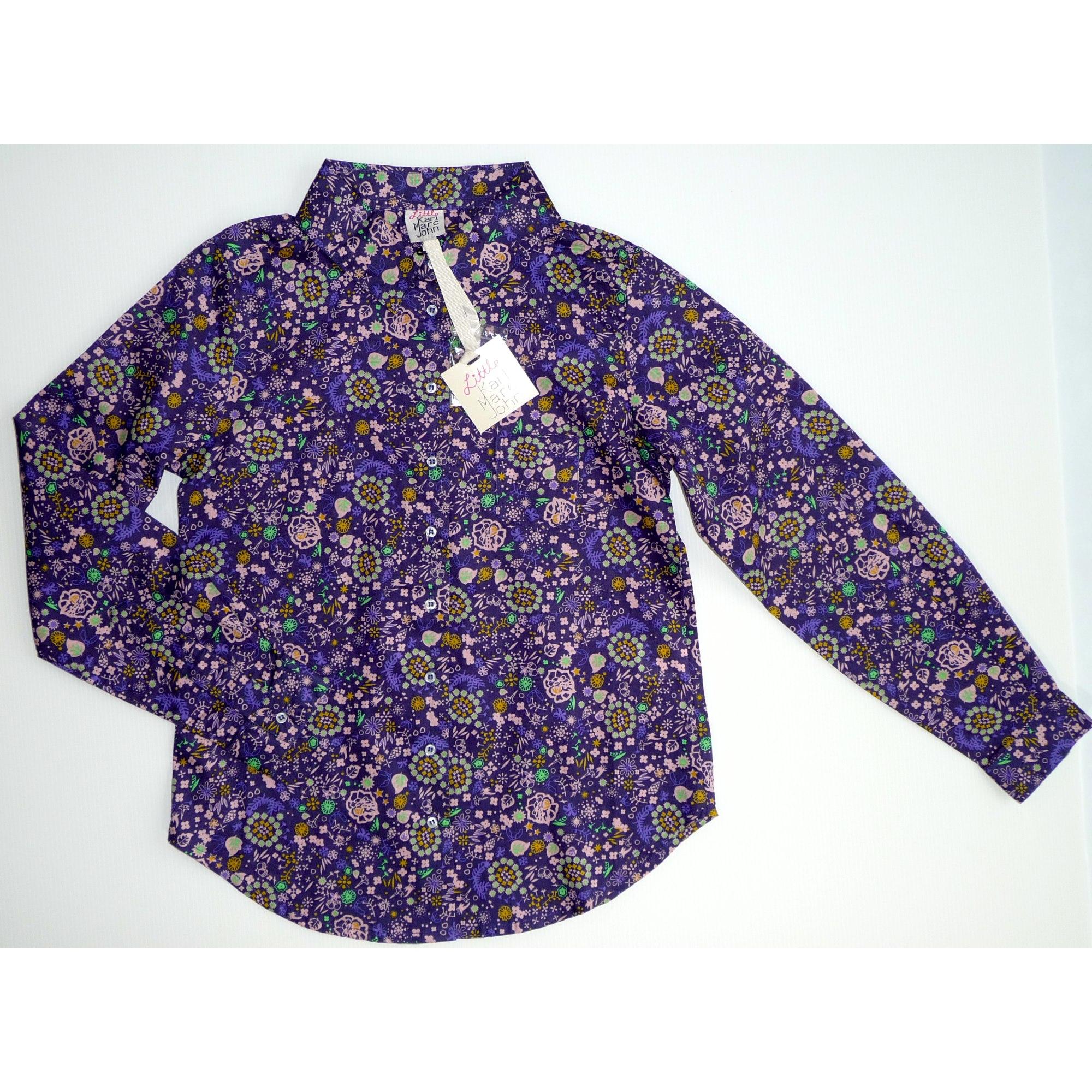 Chemisier KARL MARC JOHN coton violet 7-8 ans