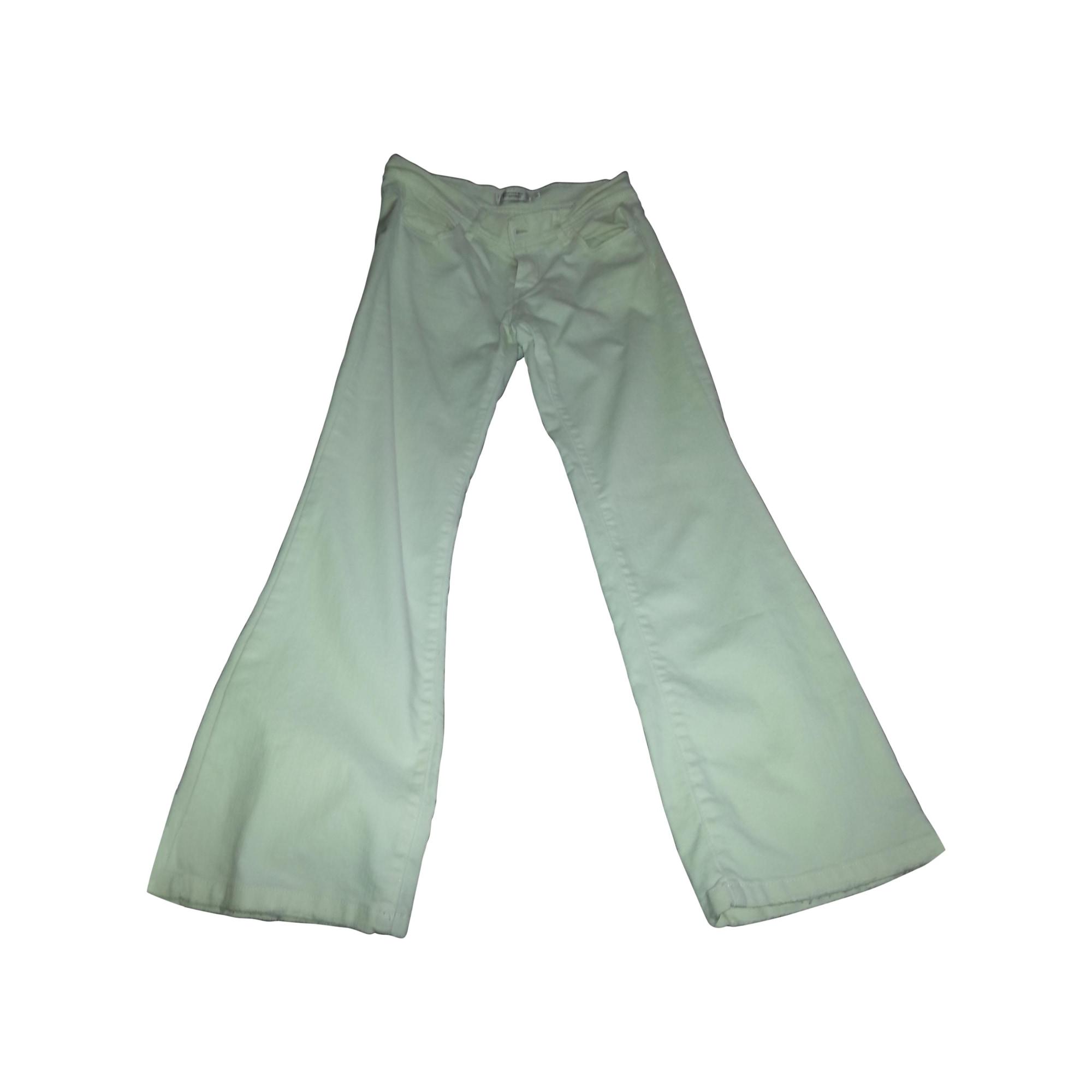 Pantalon slim, cigarette COMPTOIR DES COTONNIERS Blanc, blanc cassé, écru
