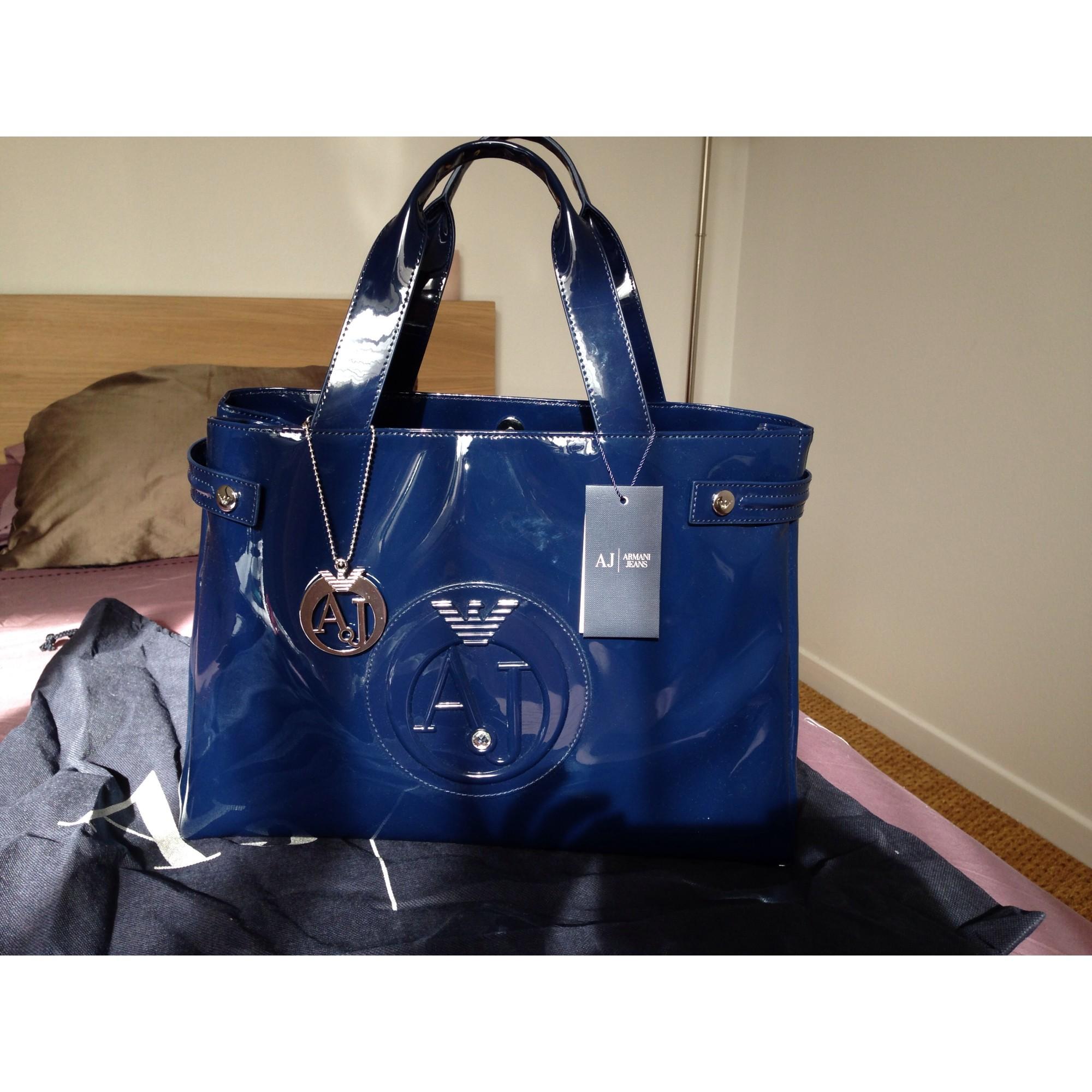 f0ad0d923d1 Sac à main en tissu ARMANI JEANS bleu vendu par Sofia 3117339 - 1731591