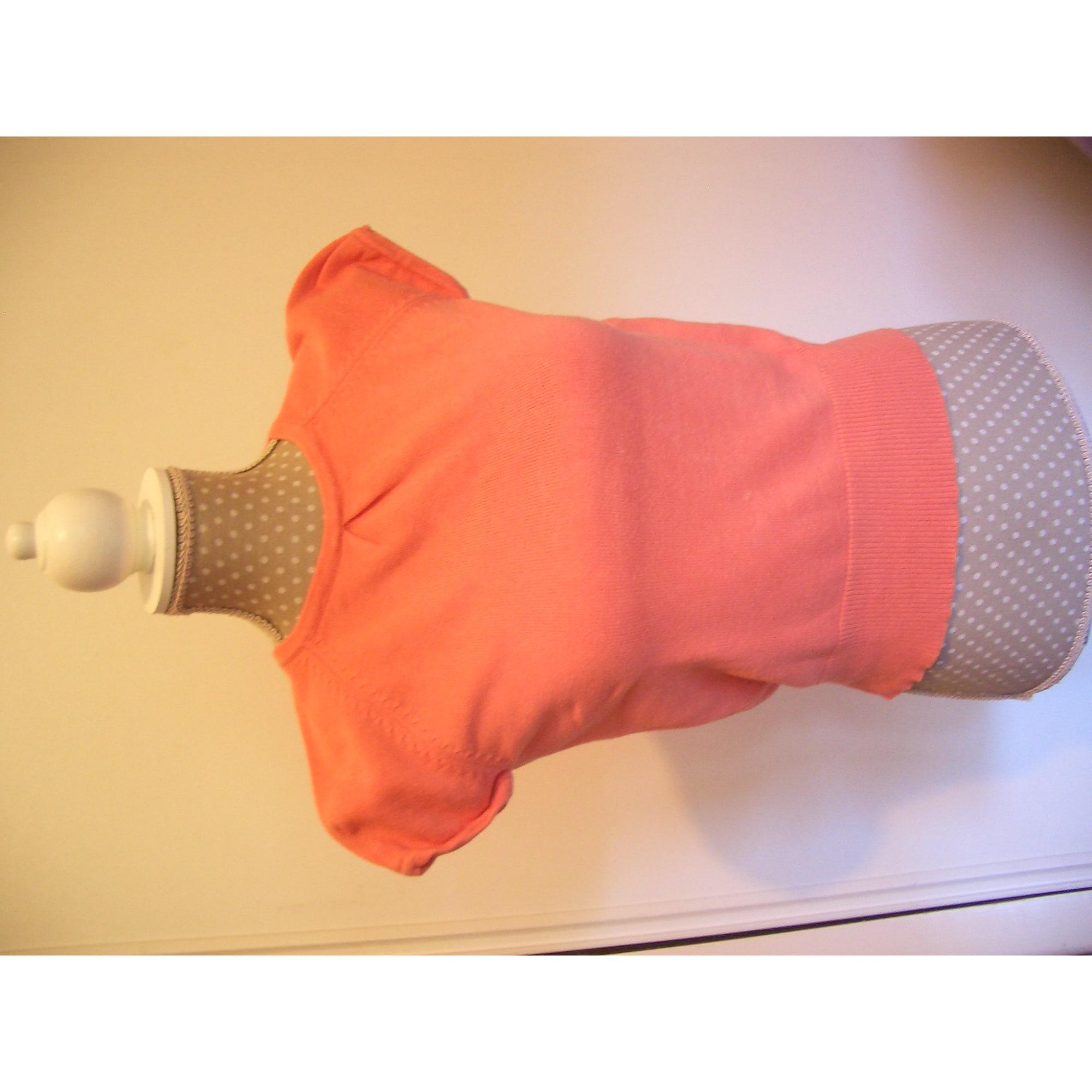 Top, Tee-shirt CYRILLUS coton orange 5-6 ans