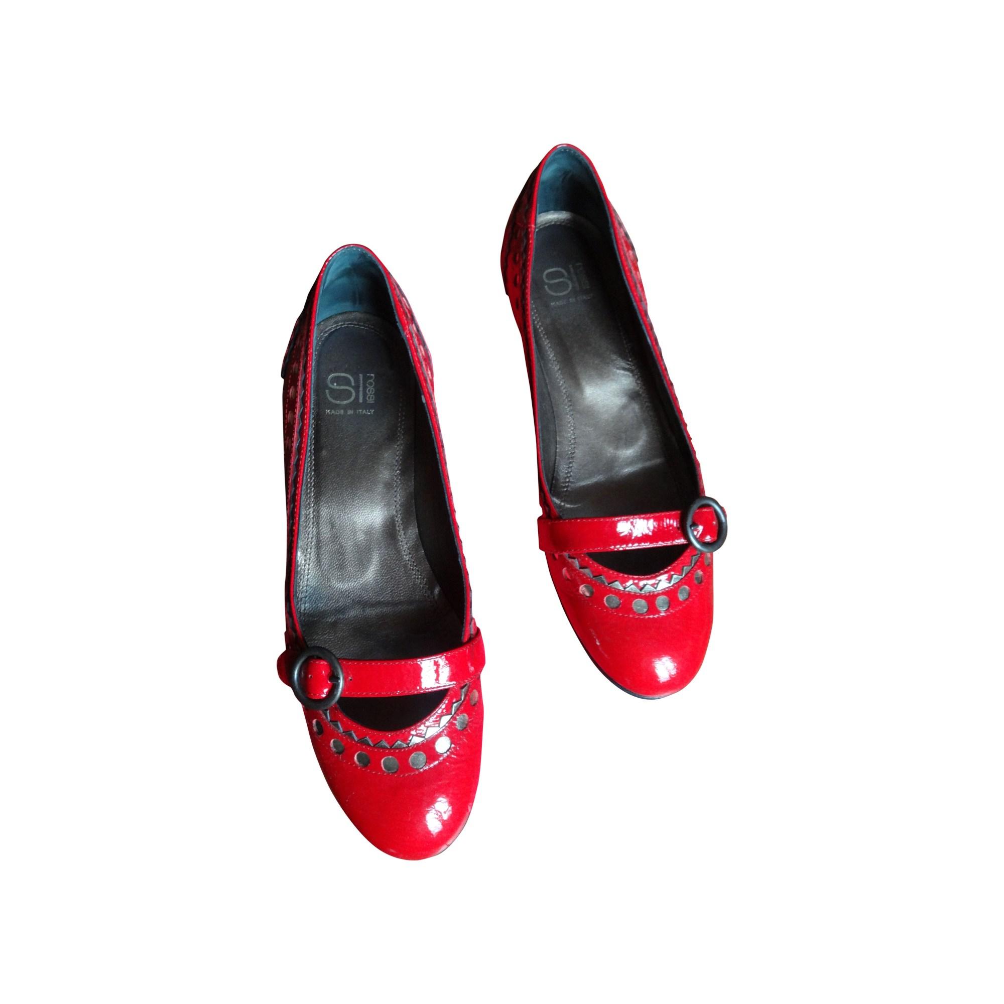 Ballerines SERGIO ROSSI Rouge, bordeaux