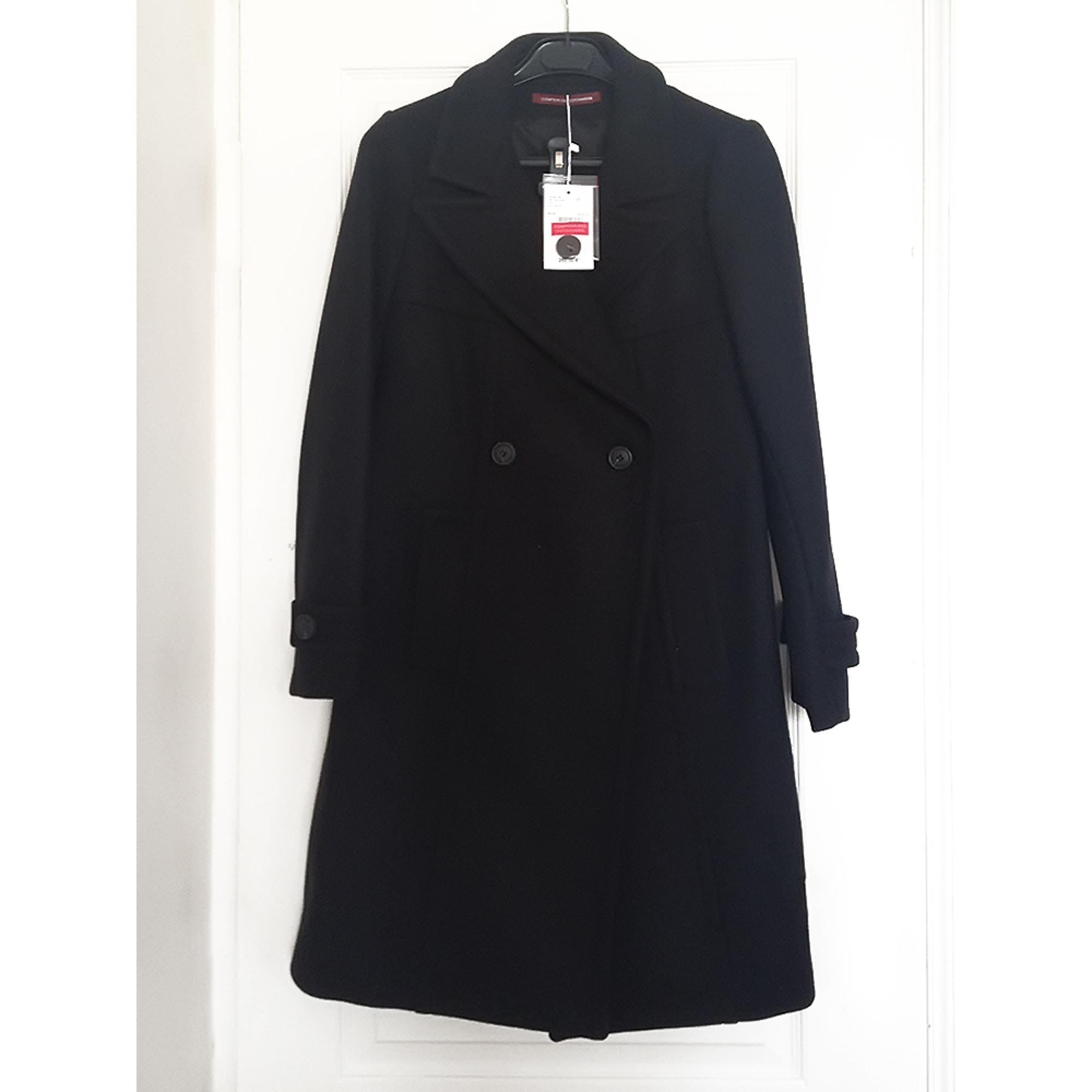 Manteau COMPTOIR DES COTONNIERS 40 (L, T3) noir vendu par ... 8092a93b75e