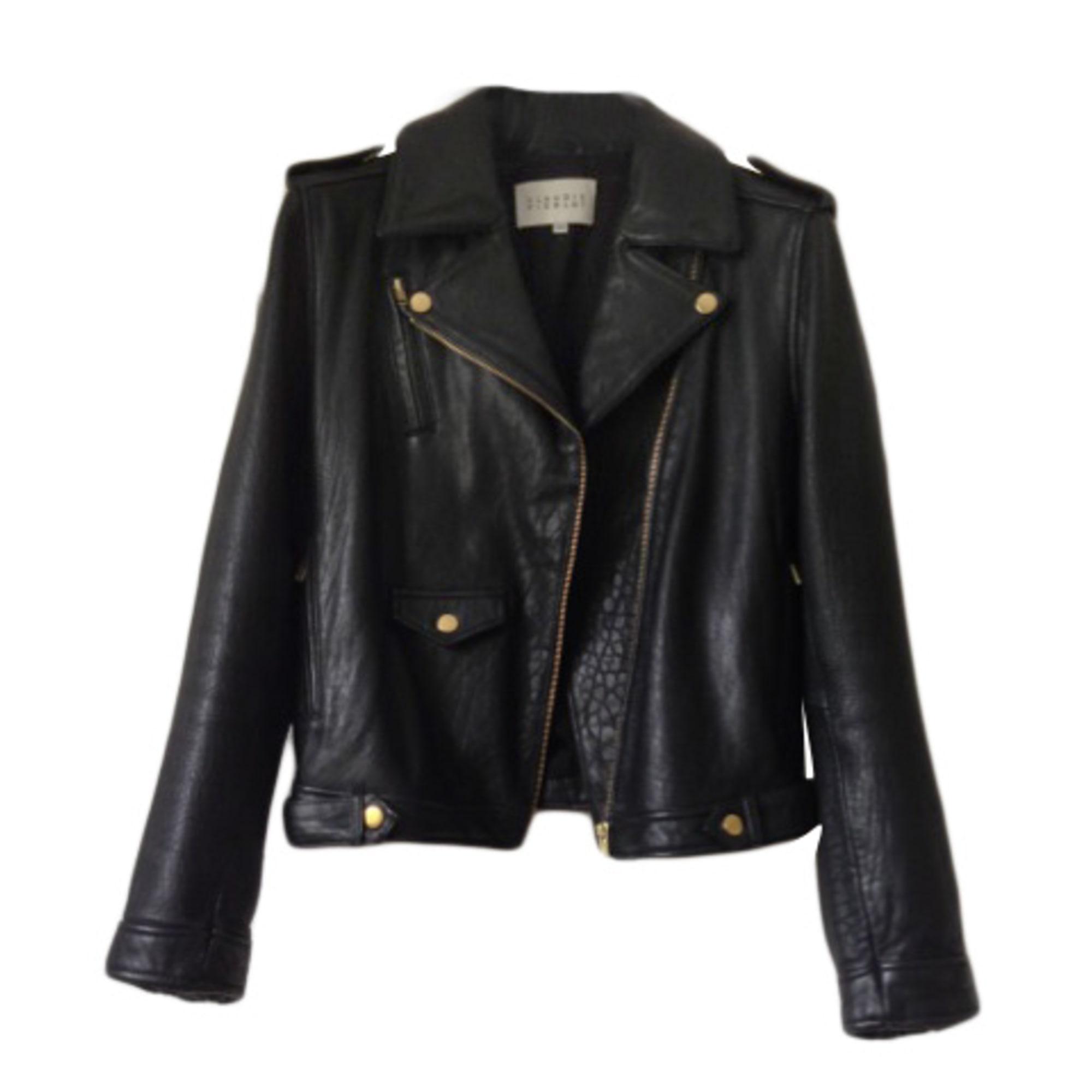 69b60259241e2 Blouson en cuir CLAUDIE PIERLOT 36 (S, T1) noir vendu par ...