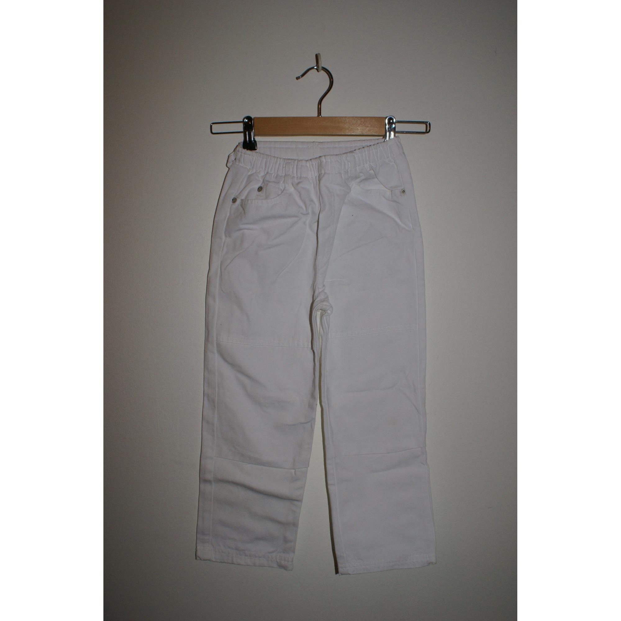Pantalon 3 POMMES Blanc, blanc cassé, écru