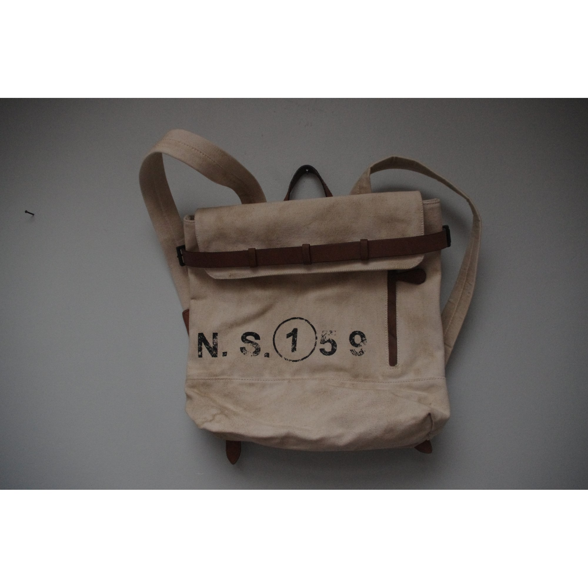 sac dos zara blanc 1825737. Black Bedroom Furniture Sets. Home Design Ideas