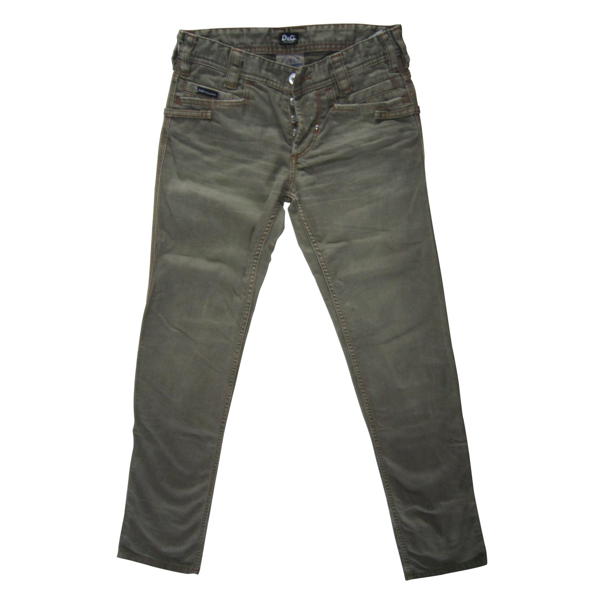 Jeans droit DOLCE & GABBANA Kaki