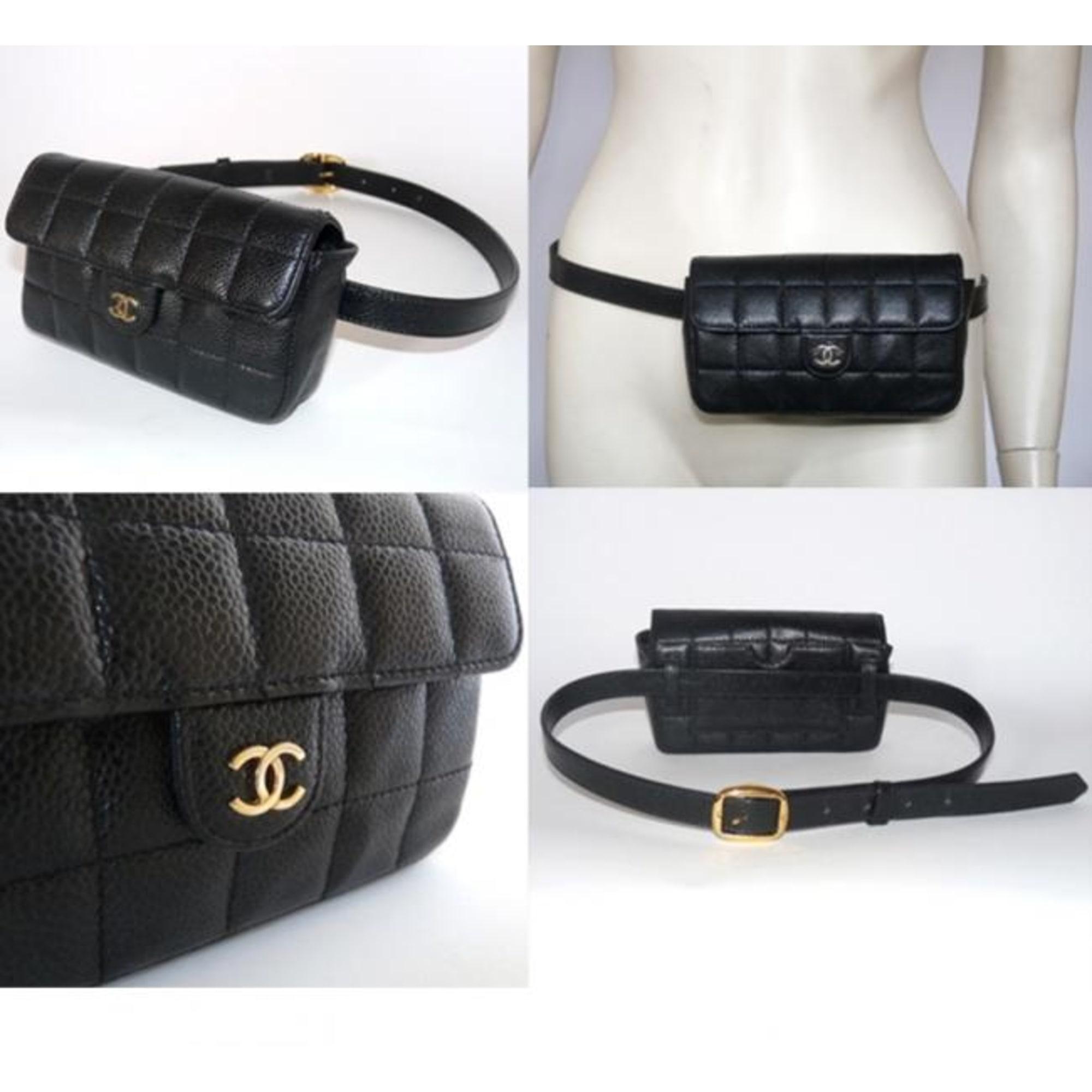 Sac pochette en cuir CHANEL noir vendu par D-bi-d-bo47418 - 186128 e0104ec302b