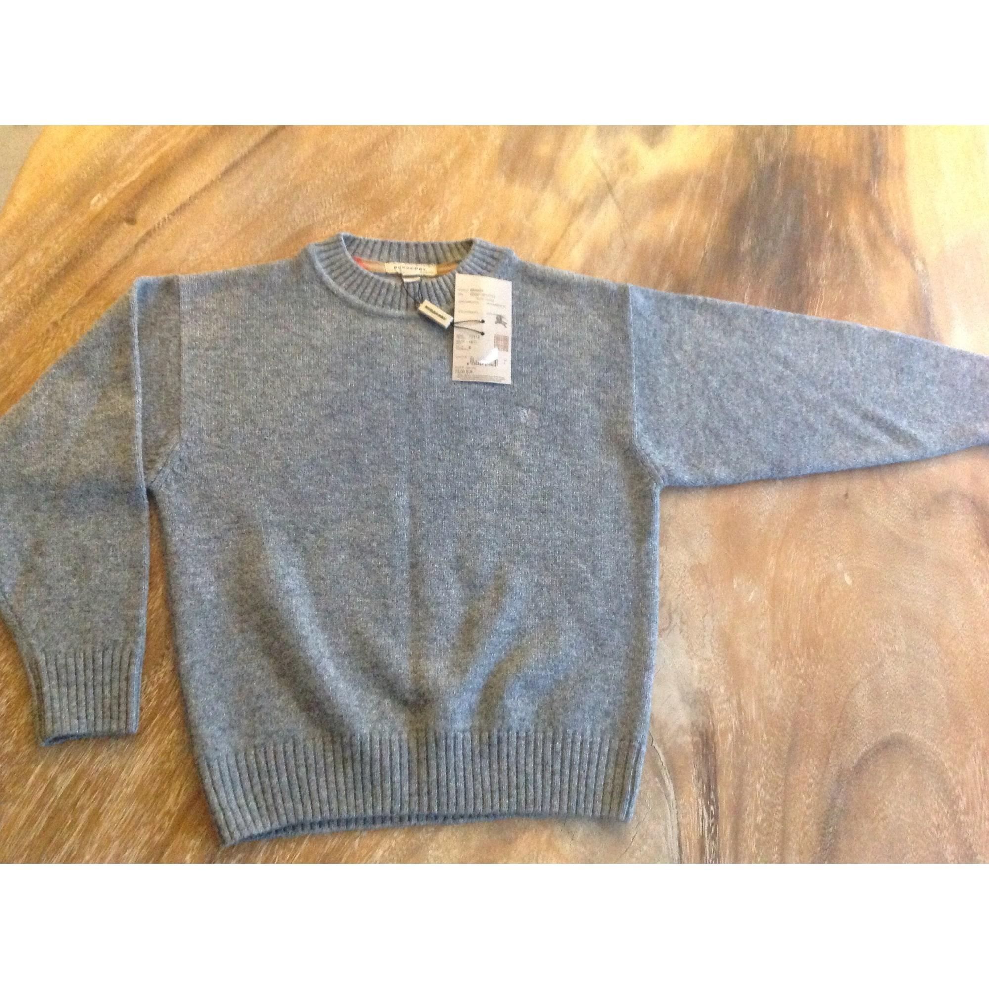 781bef61407e Pull BURBERRY 7-8 ans gris vendu par Bulle 7 - 1899046
