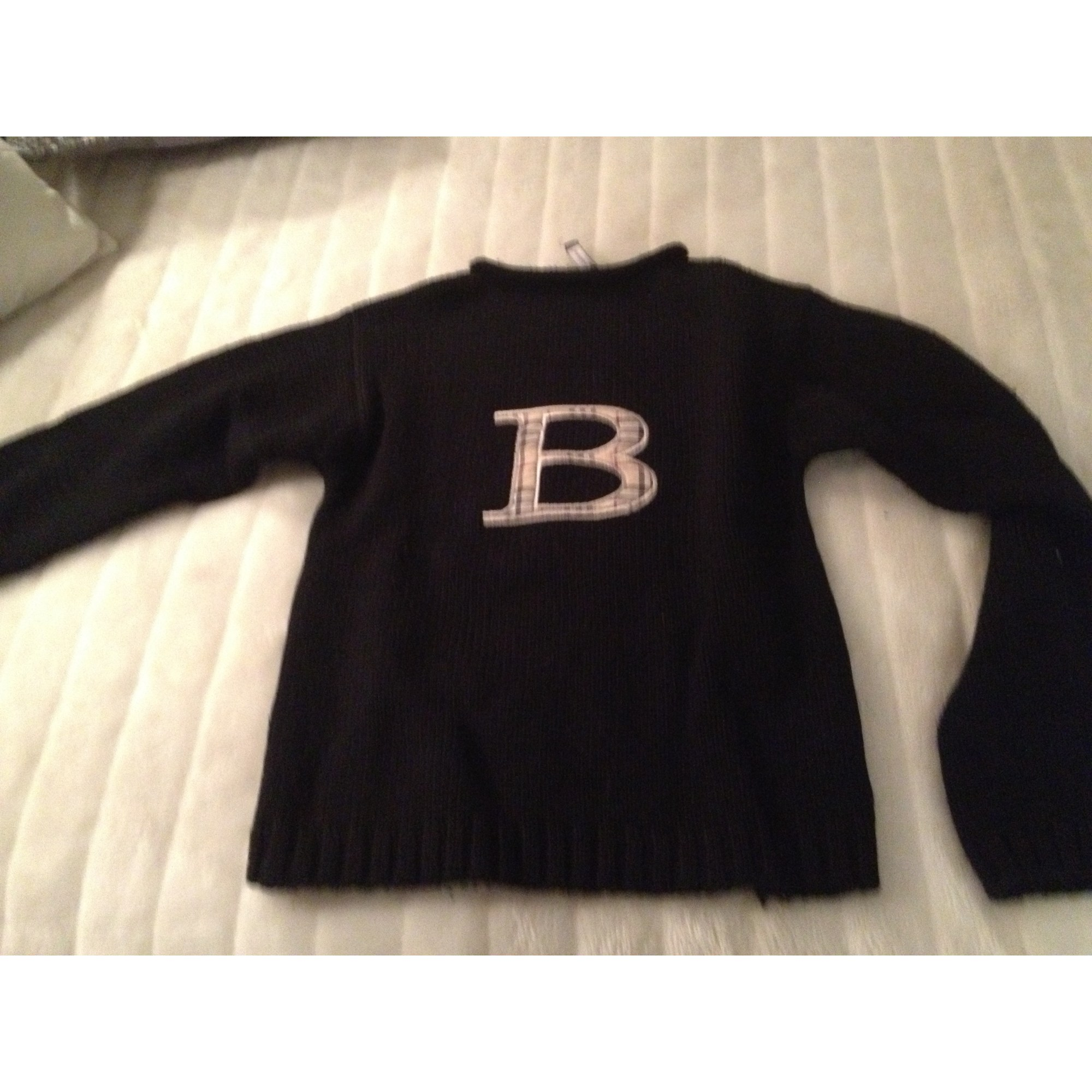 0d9fc9b59bef Pull BURBERRY 11-12 ans noir vendu par D ainara150702 - 1912685