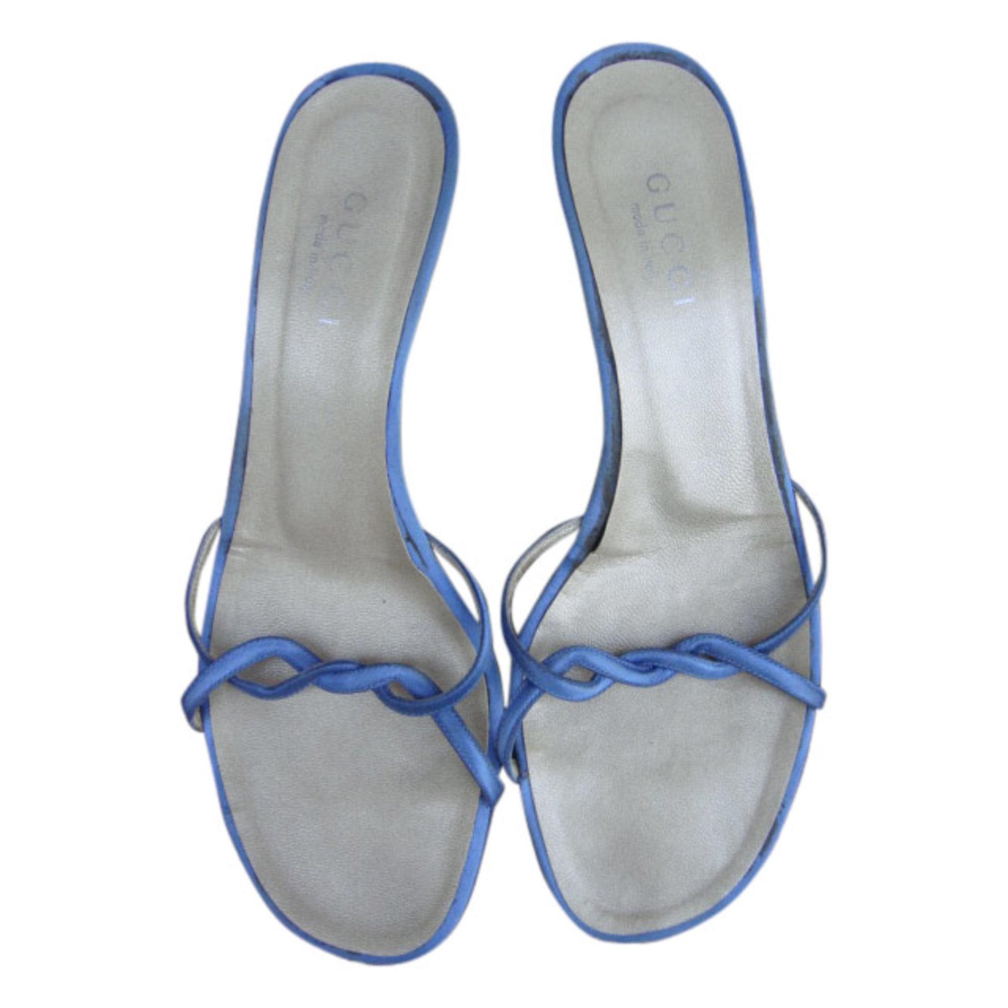 Sandales à talons GUCCI Doré, bronze, cuivre