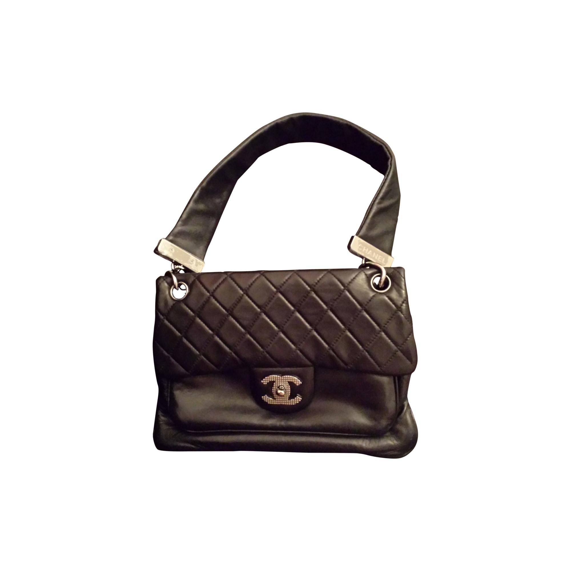 Sac en bandoulière en cuir CHANEL noir vendu par Samira 40471484 ... 980ebbd00cf
