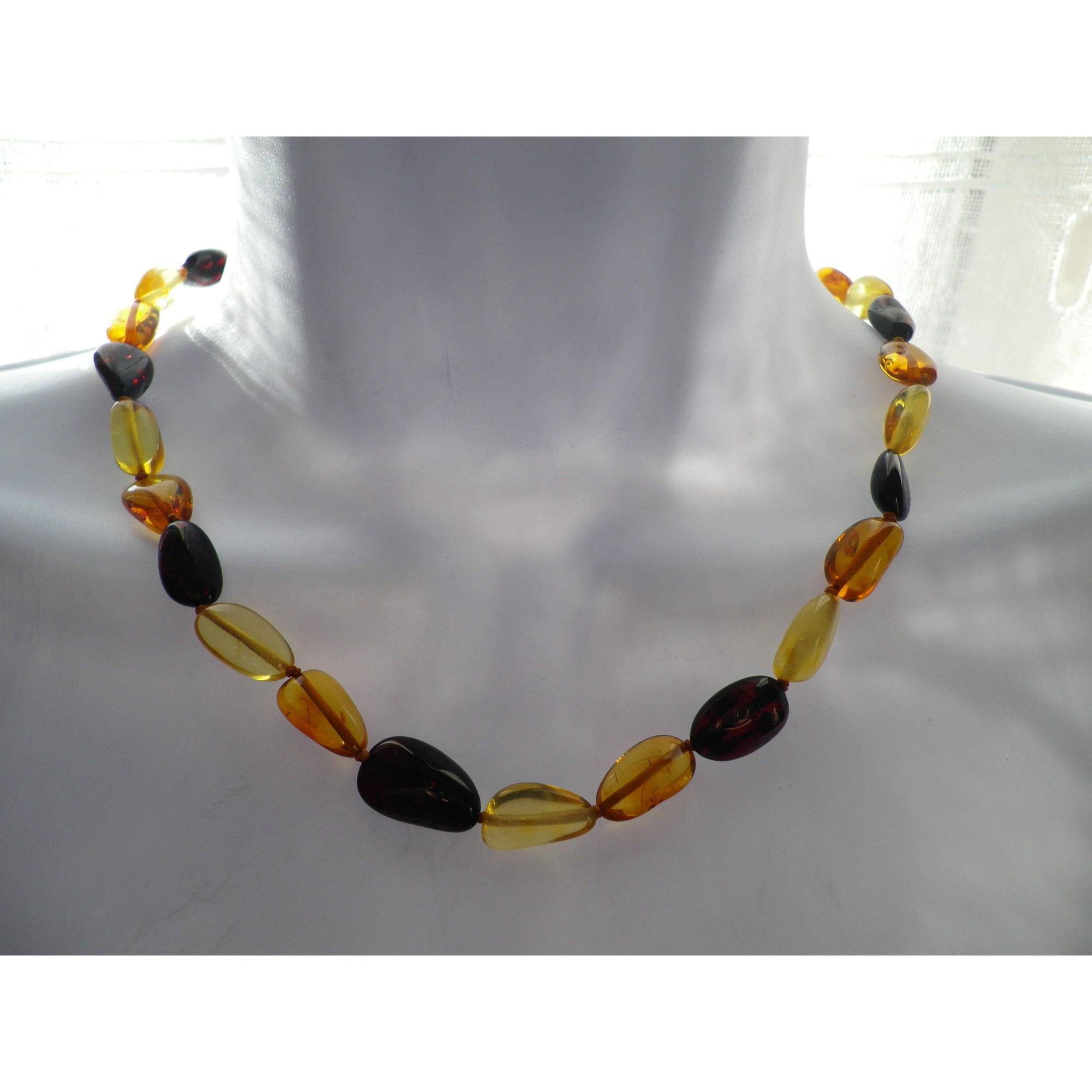 Collier AMBRE perle multicolore