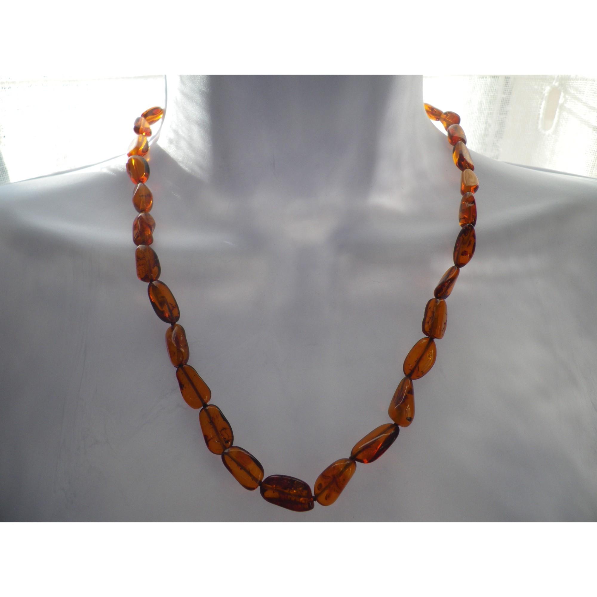 Collier AMBRE perle marron
