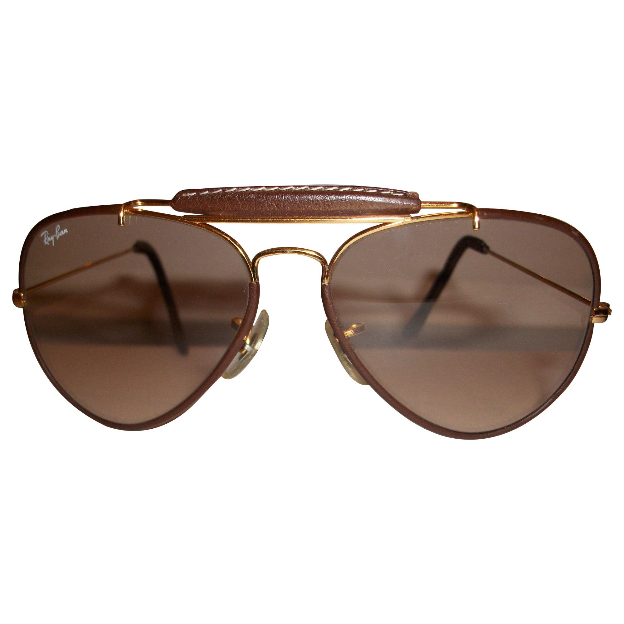 ab19669c28 Lunettes de soleil RAY-BAN marron vendu par Martine 60304045 - 1982220