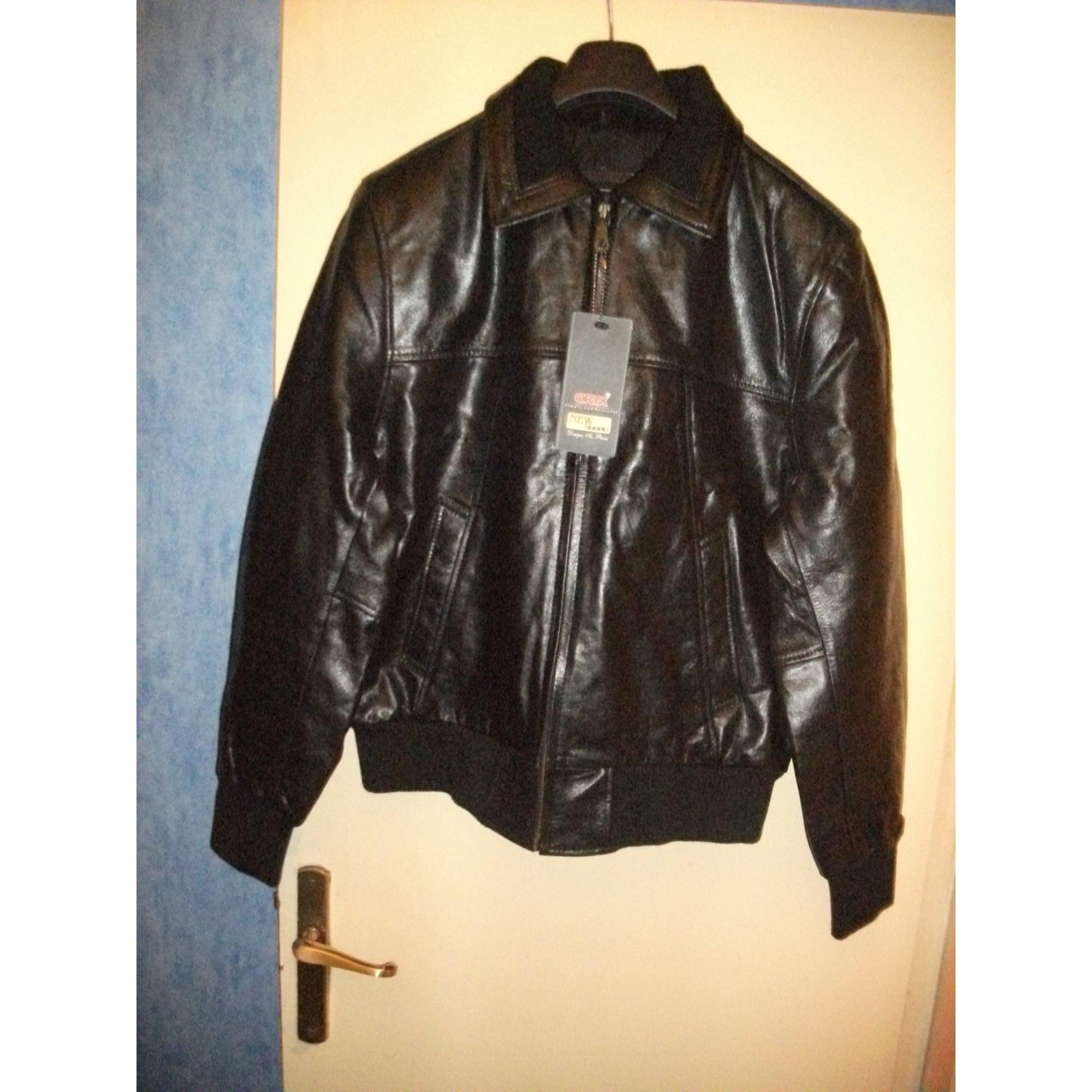 37235f6b10c3 Blouson en cuir ORYX 56 (XL) noir - 1985073