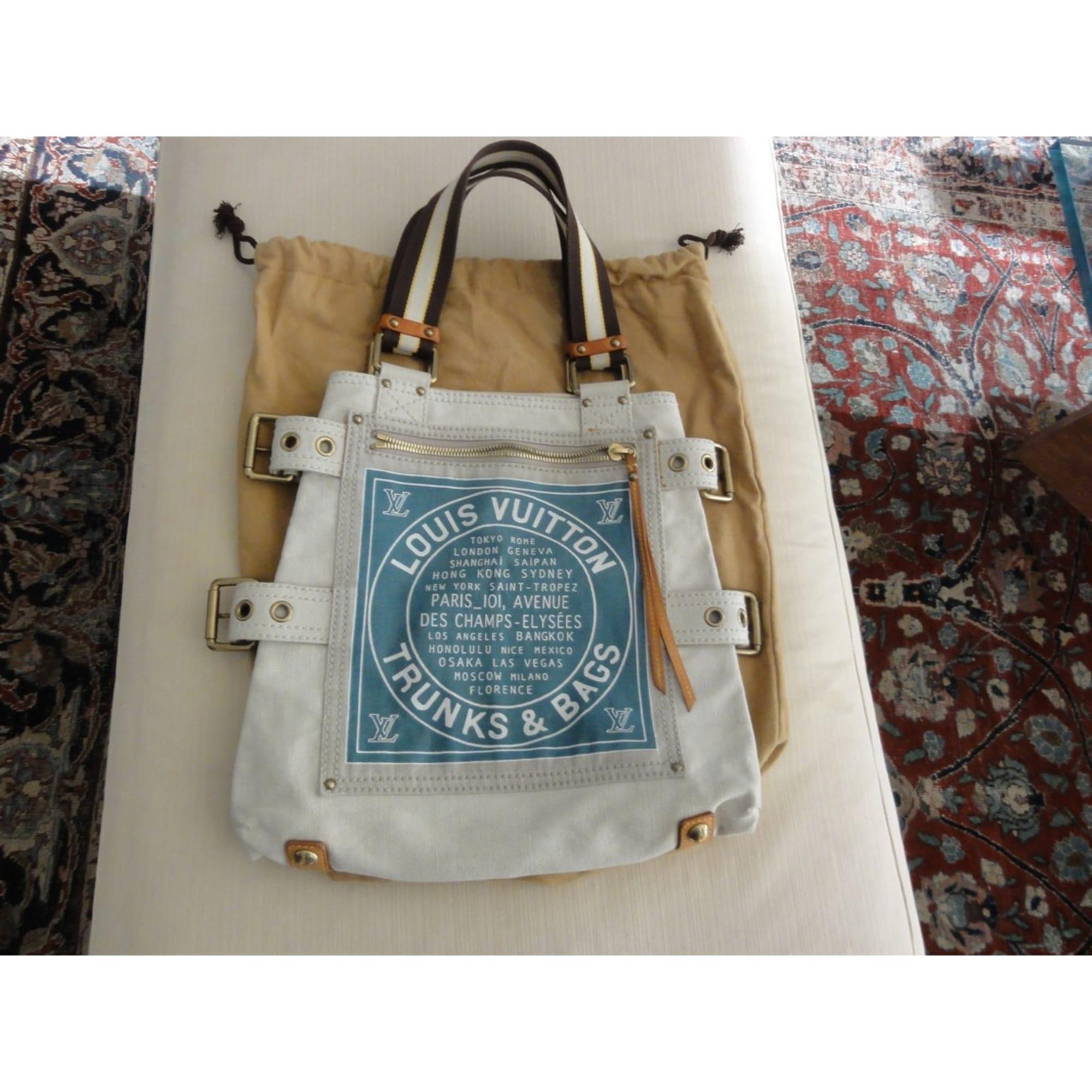 6b16c4e23986 Sac à main en tissu LOUIS VUITTON blanc vendu par The boutique of ...
