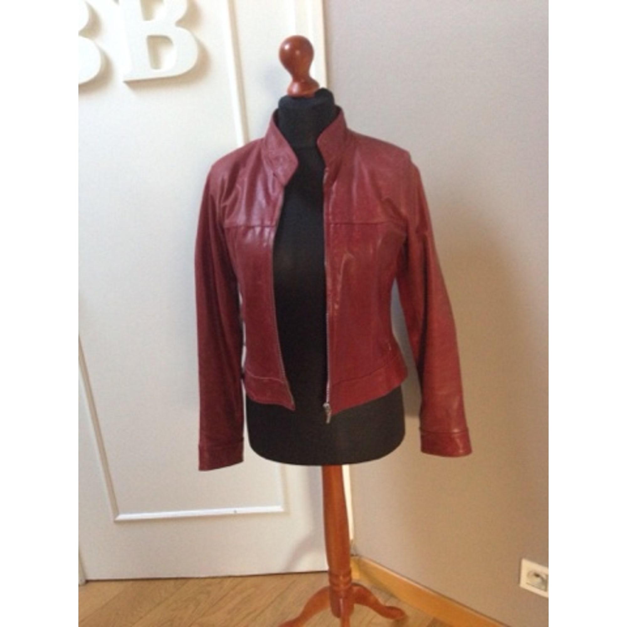 En 328101671 40 Zara T3 l Rouge Vendu Cuir Christelle Blouson Par q76Awf6