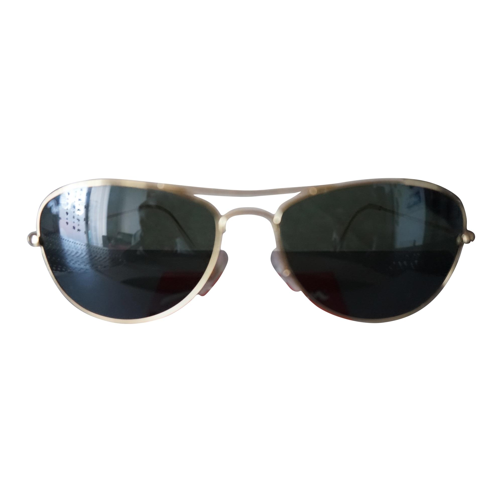 Lunettes de soleil RAY-BAN branches dorées   verres noirs vendu par ... 9678c3e98186