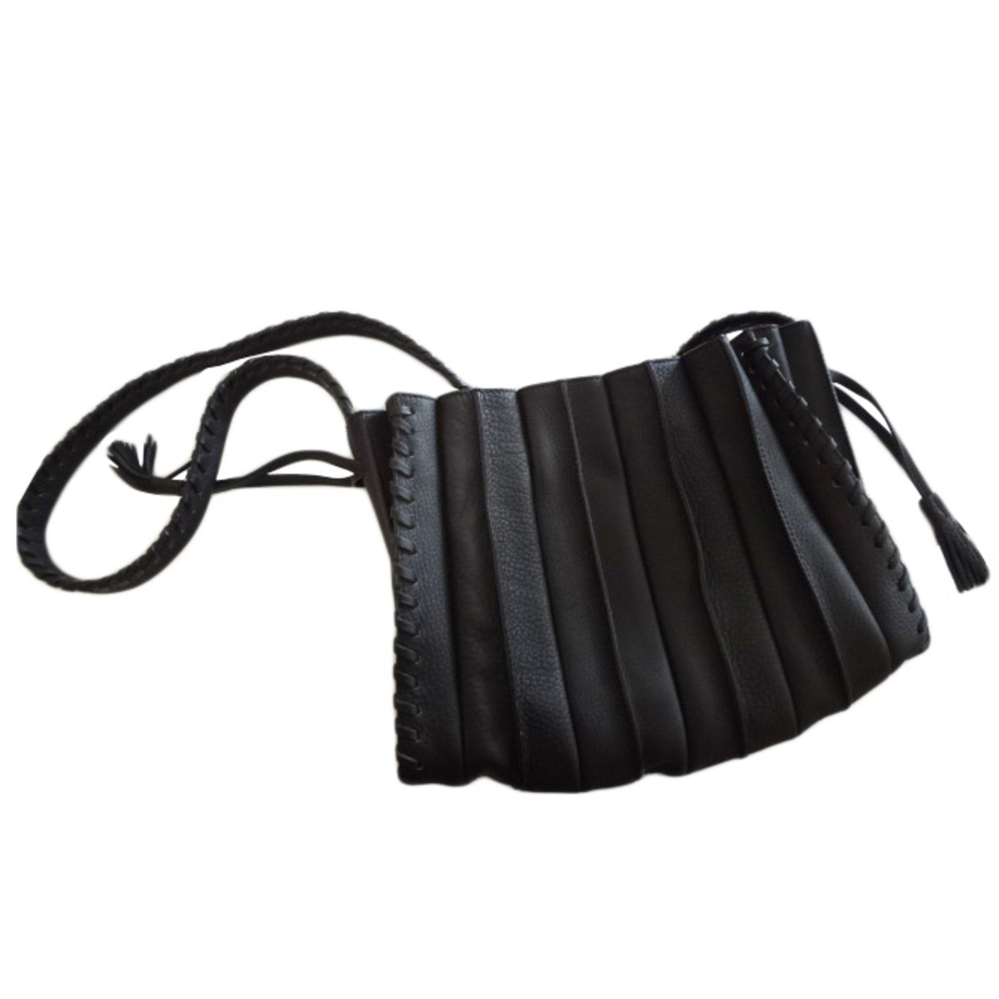f146dcbdcb Sac en bandoulière en cuir LUPO BARCELONA noir vendu par Miss ...