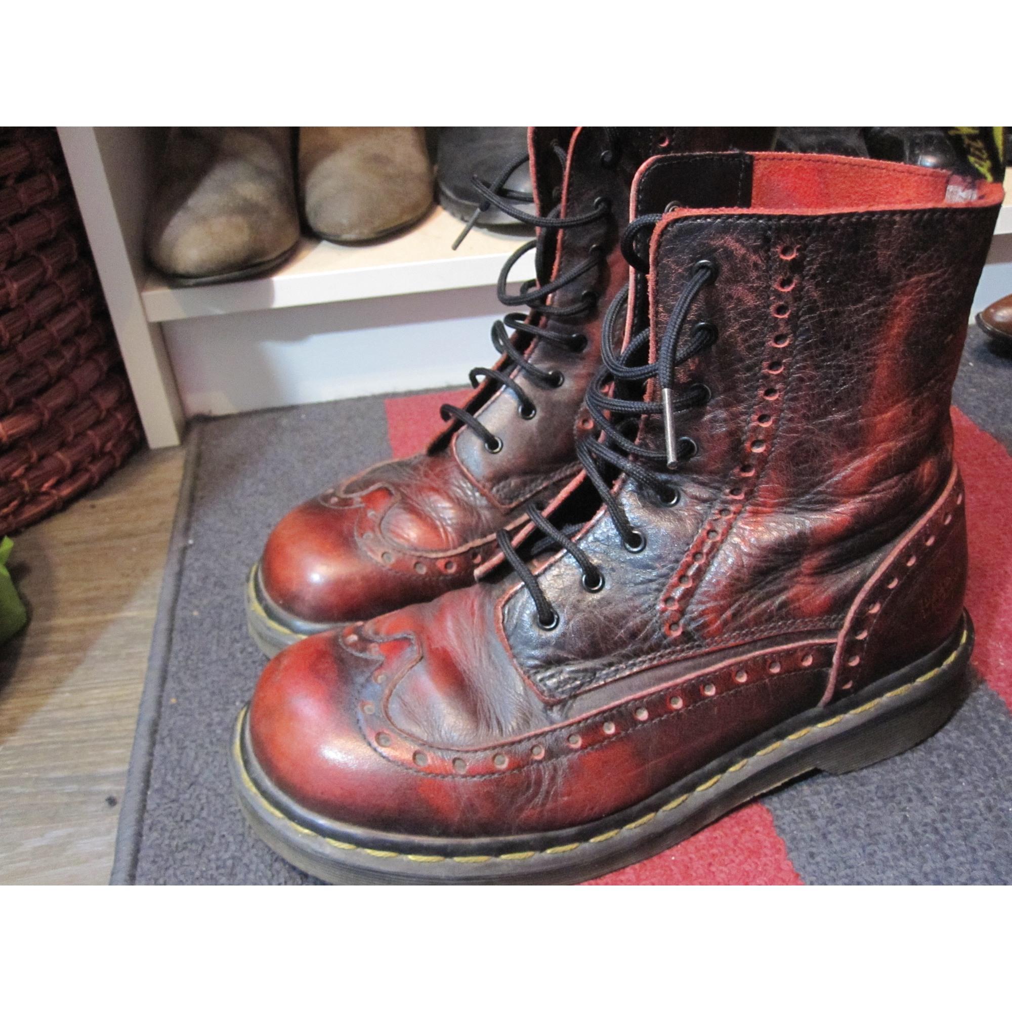 9e2baa719916 Bottines   low boots plates DR. MARTENS 40 rouge vendu par ...