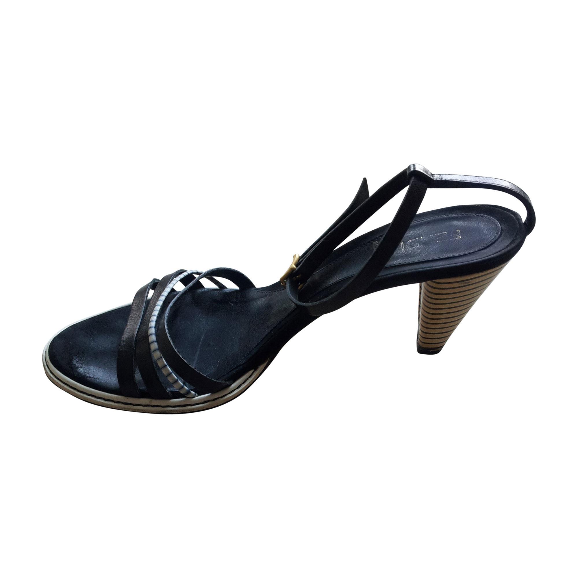 Sandales à talons FENDI Bleu, bleu marine, bleu turquoise