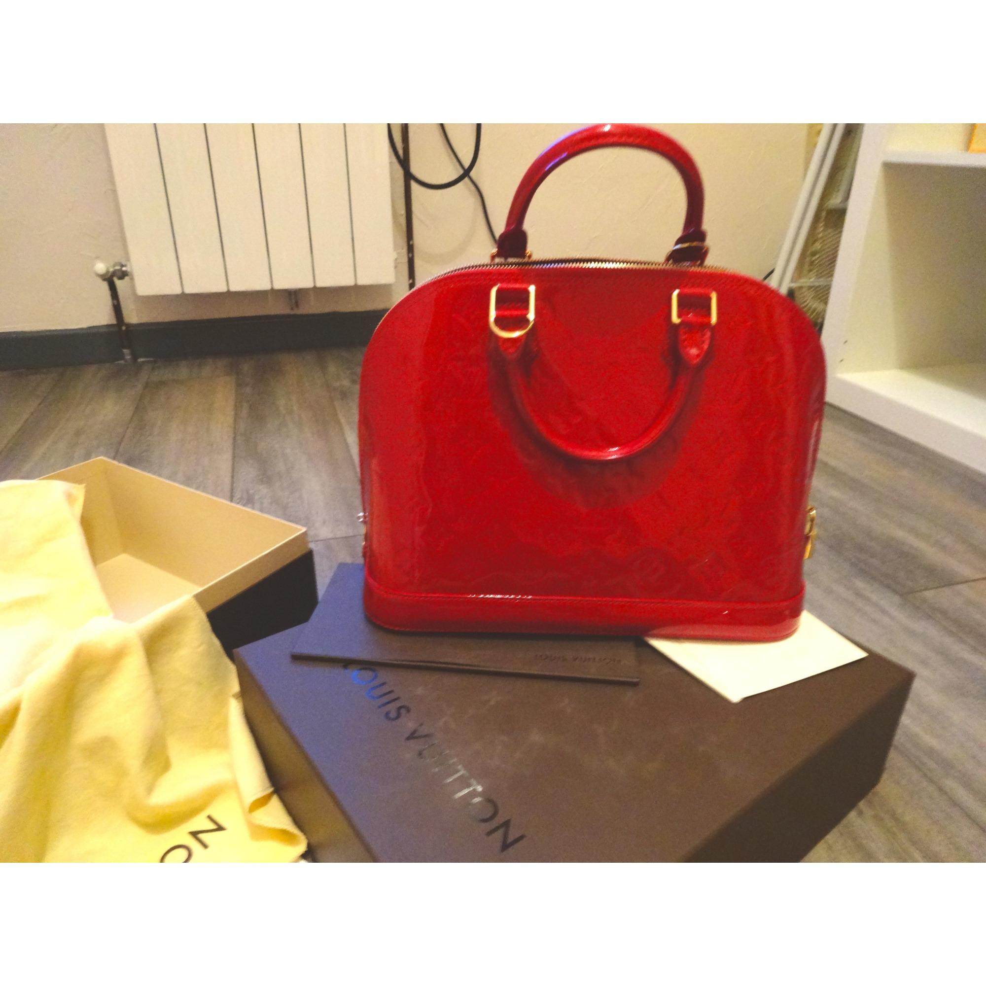 7c22ccb5aa59 Sac à main en cuir LOUIS VUITTON rouge vendu par Jennifer 254142774 ...