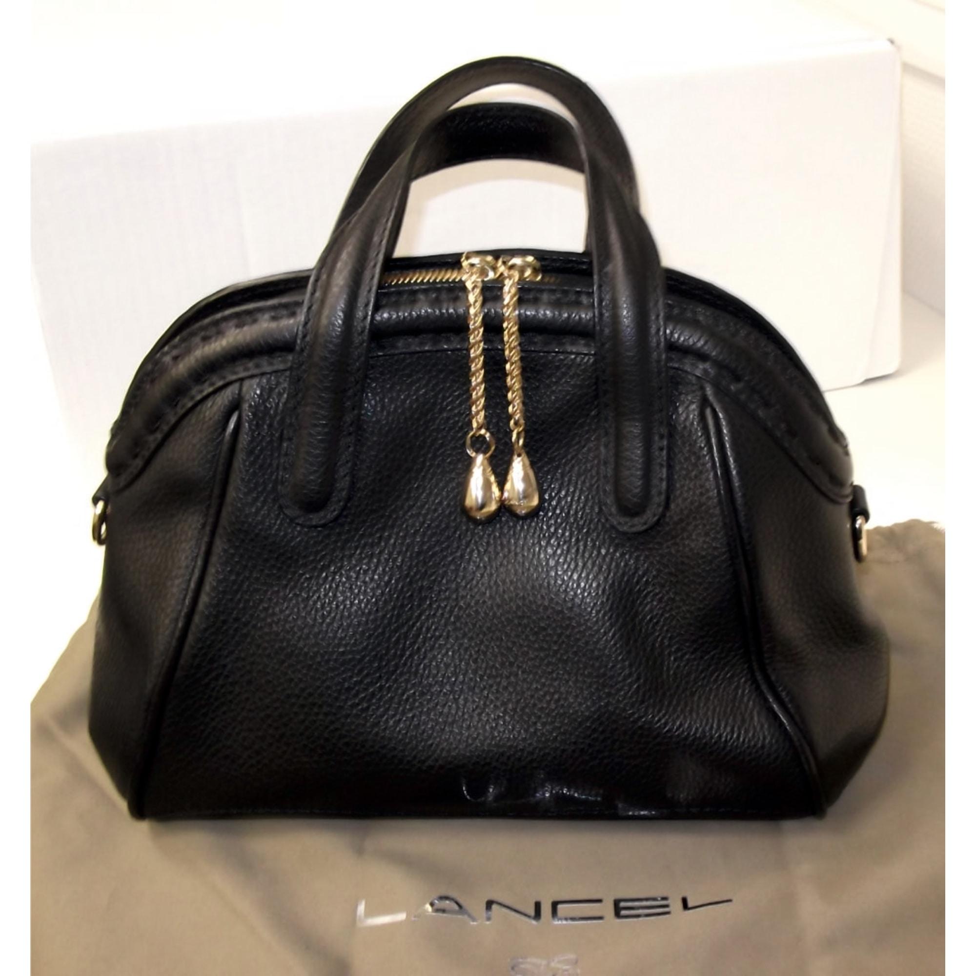 61bcfdf645 Sac à main en cuir LANCEL noir vendu par Michele m - 2187031