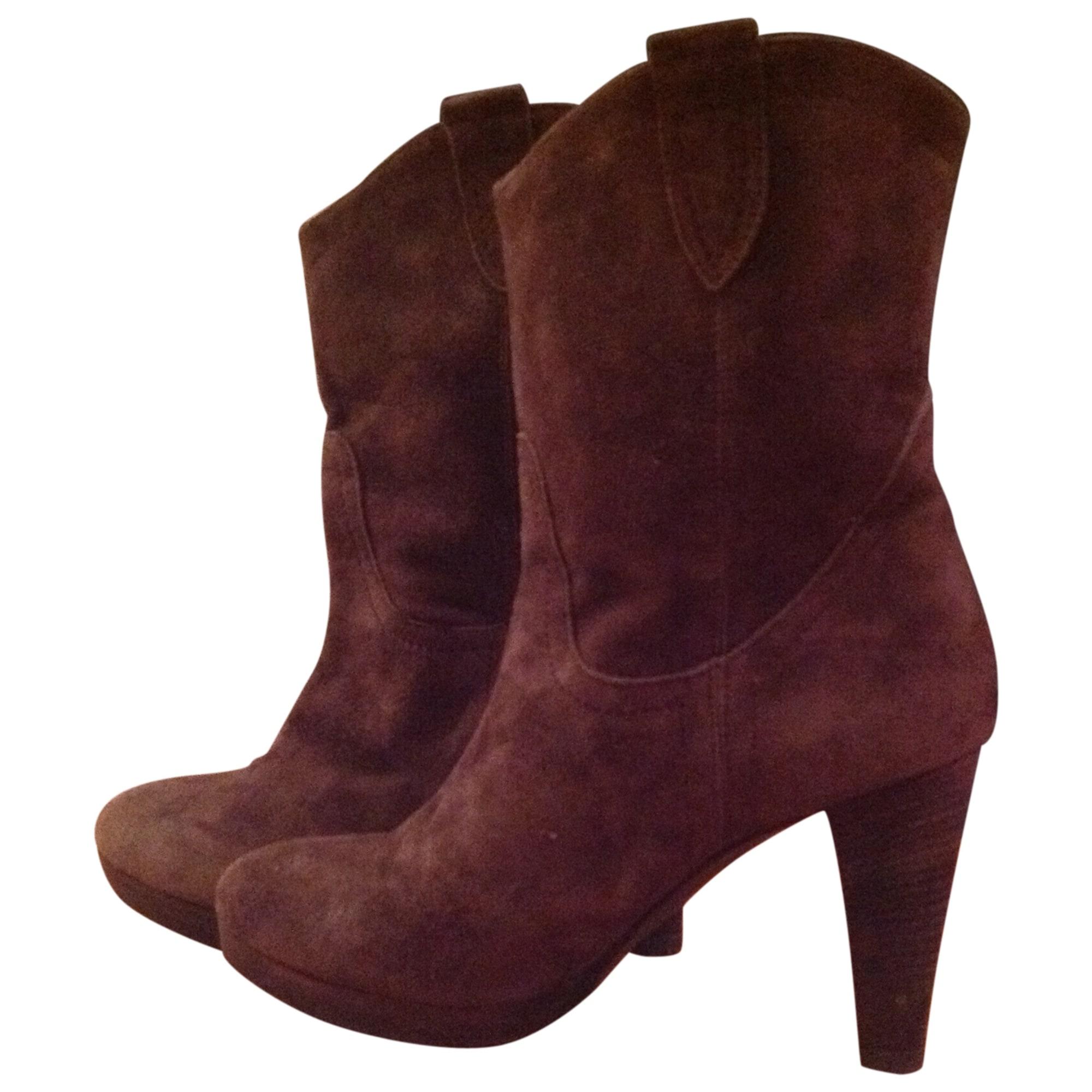 0c4abfae3f9 Bottines   low boots à talons MINELLI 40 marron brun reflets - 2221472