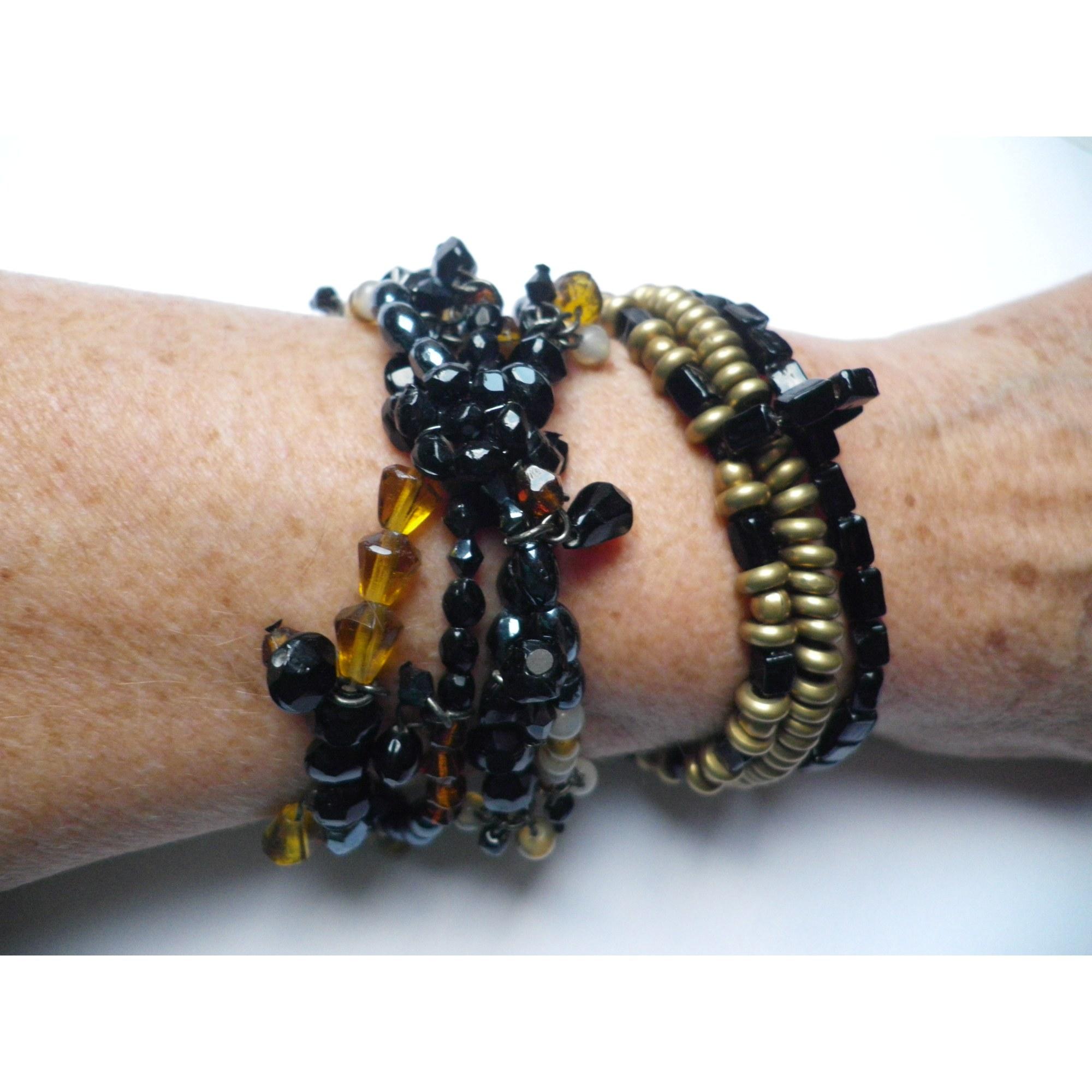 Bracelet MARC LABAT verre multicolore