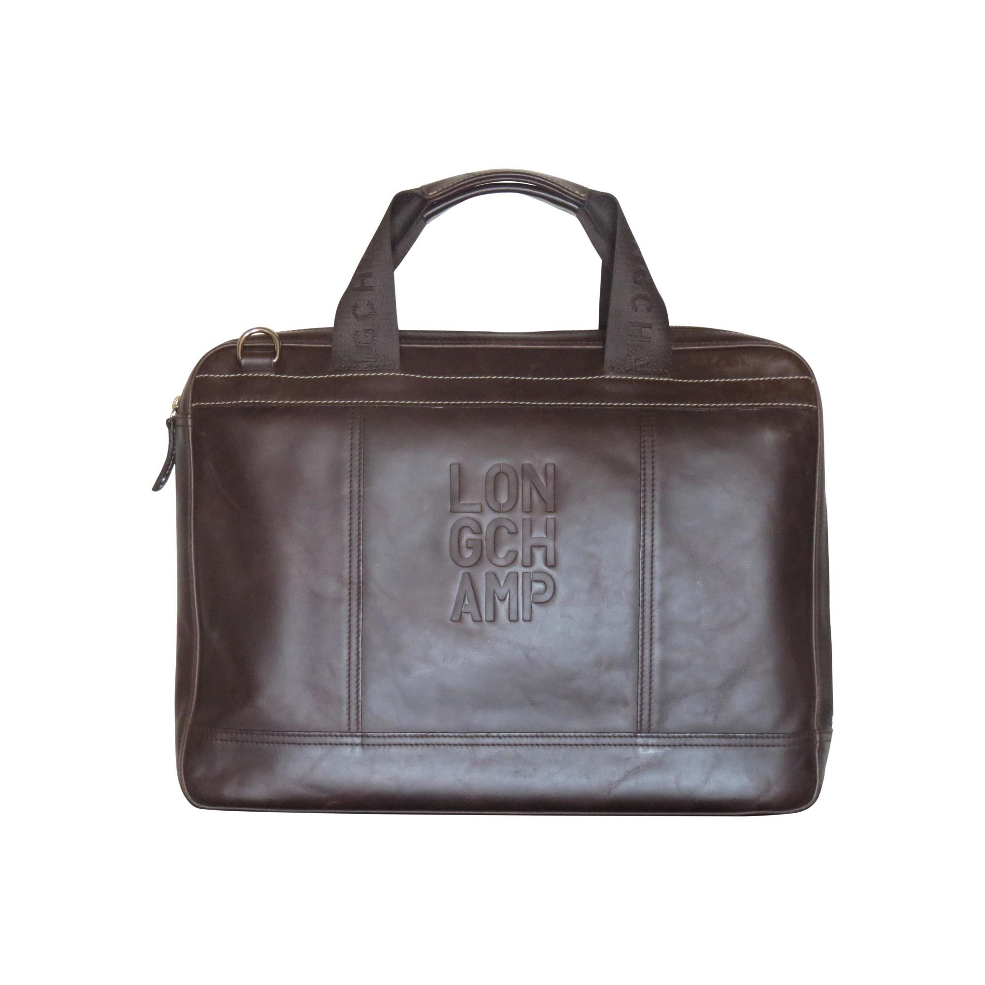 ef67935fb3861 Porte document, serviette LONGCHAMP marron vendu par Shopname613353 ...