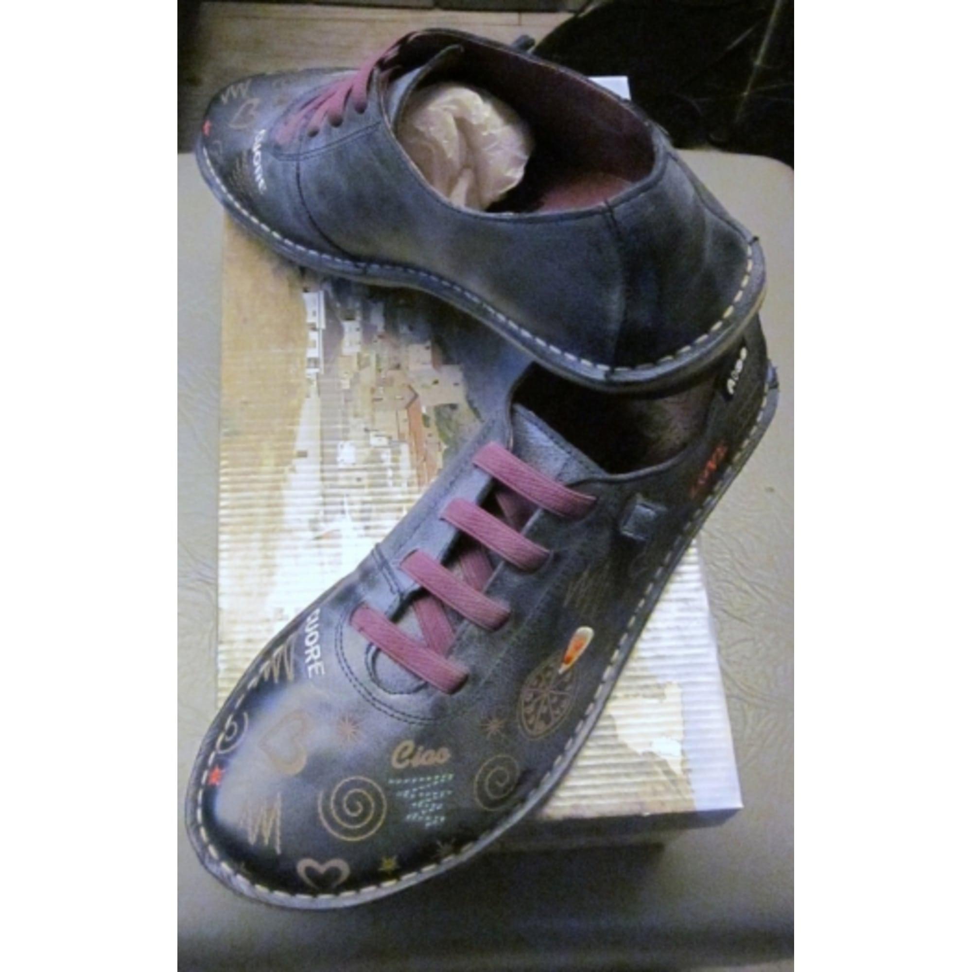 Chaussures à lacets ALCE cuir violet 35 Soj0YY
